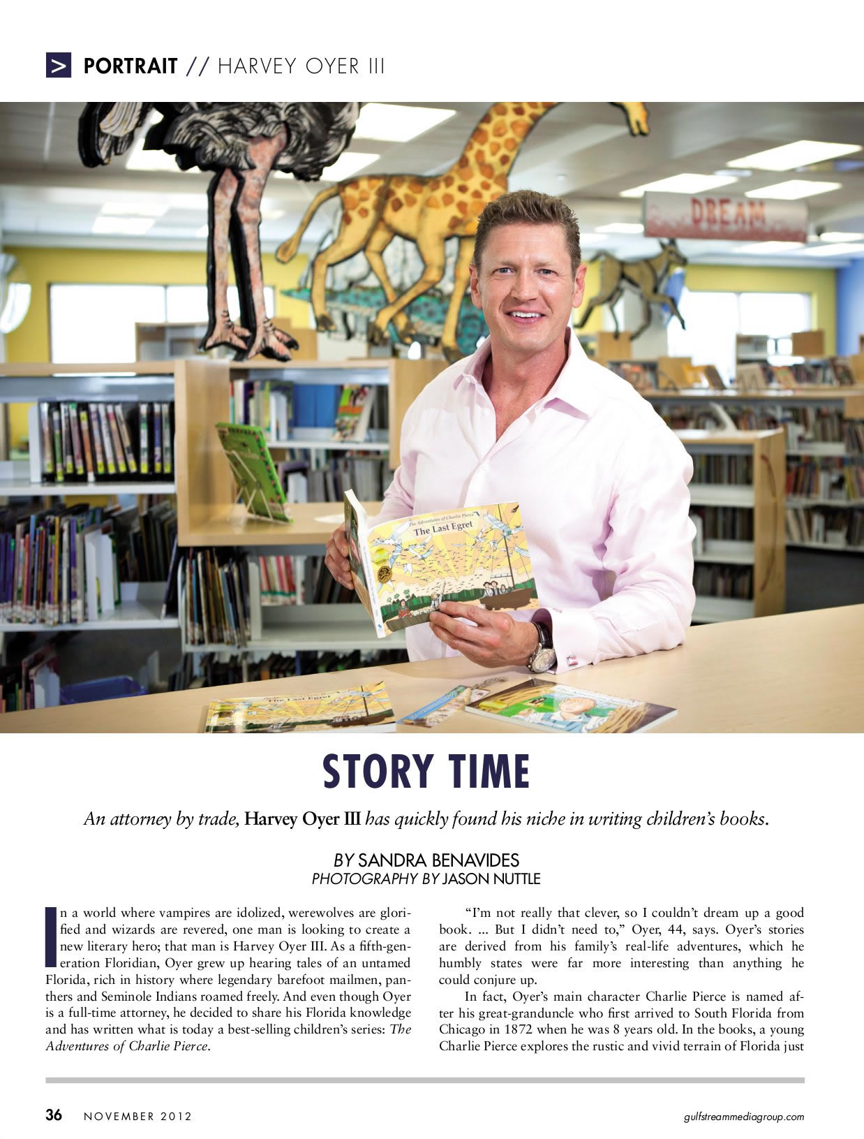 Harvey Oyer featured in The Palm Beacher