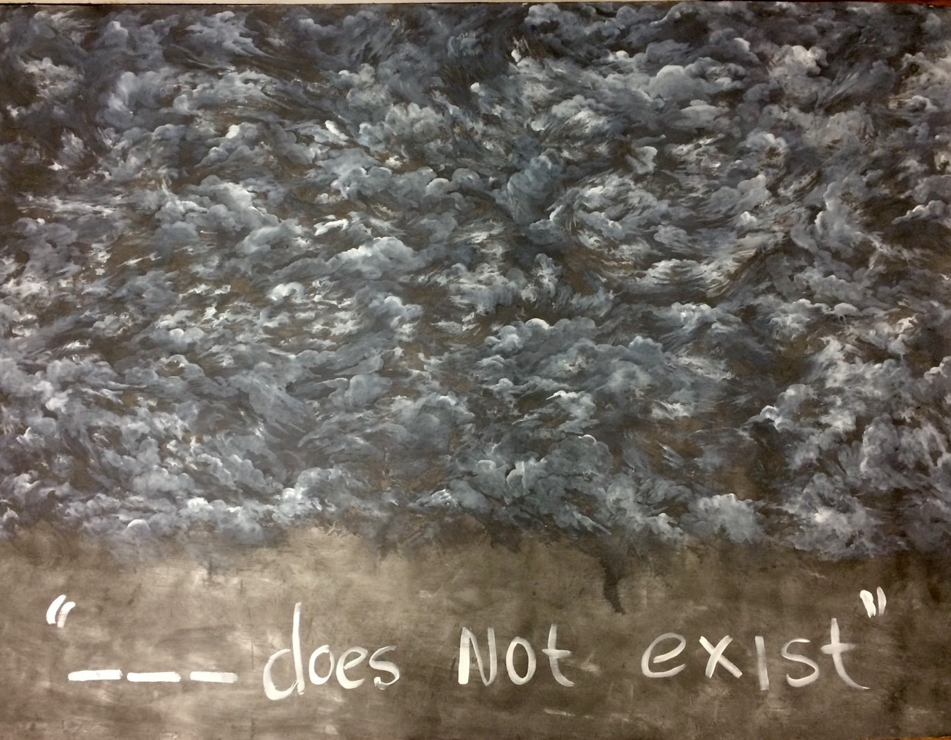 '--- Does Not Exist'                                                Oil and Graphite on Linen, 2200mm x 1600mm