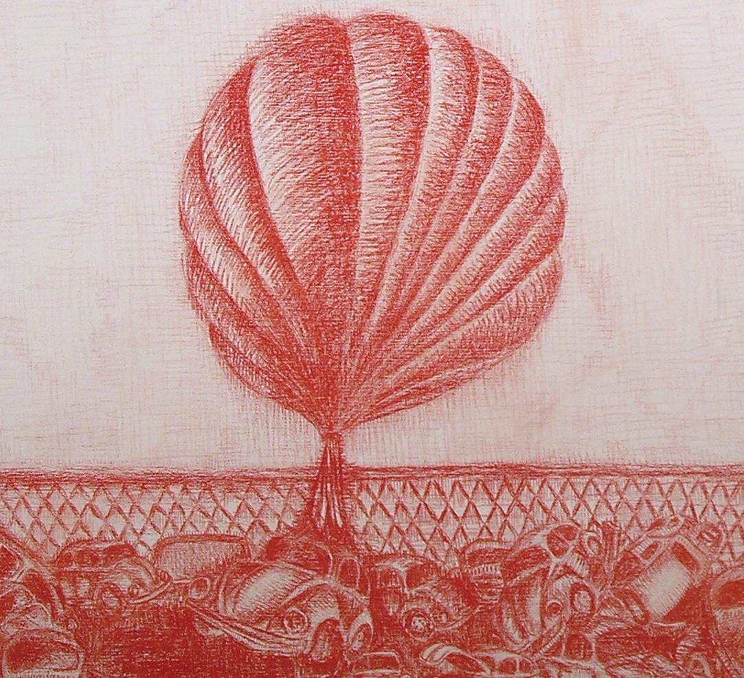 Red Boundaries No.1 (Detail), 2006