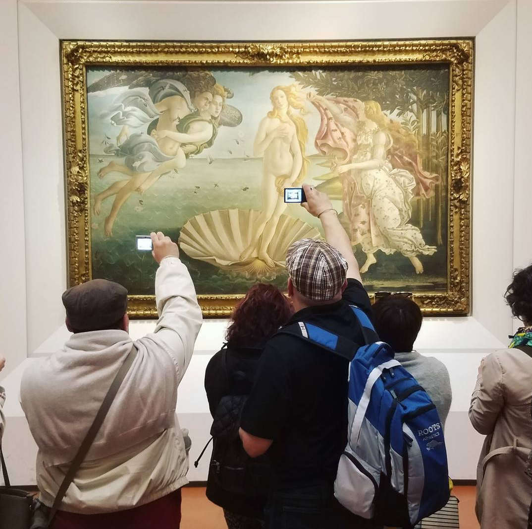 Botticelli at the Uffizi Gallery in Florence