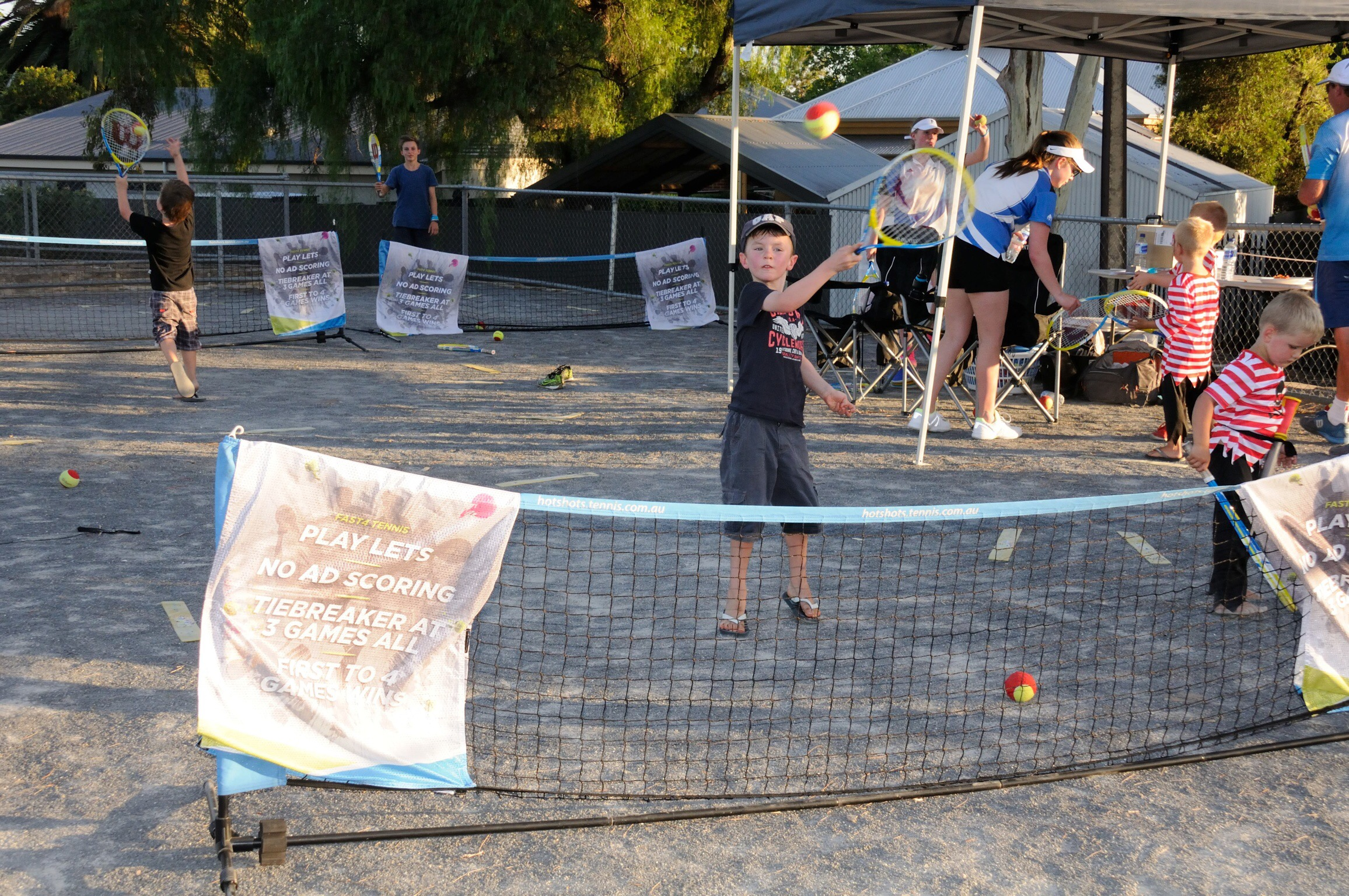 The Hot Shots Tennis was run by Mr Tennis with some budding new tennis champions identified.
