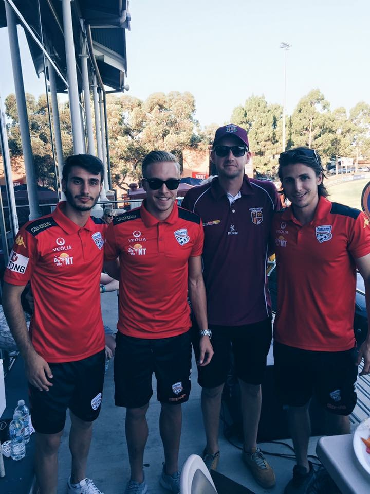 Amazing to have these legends join us for the day. L-R George Mells, Jimmy Jeggo, Jarrod Walsh and Michael Marrone