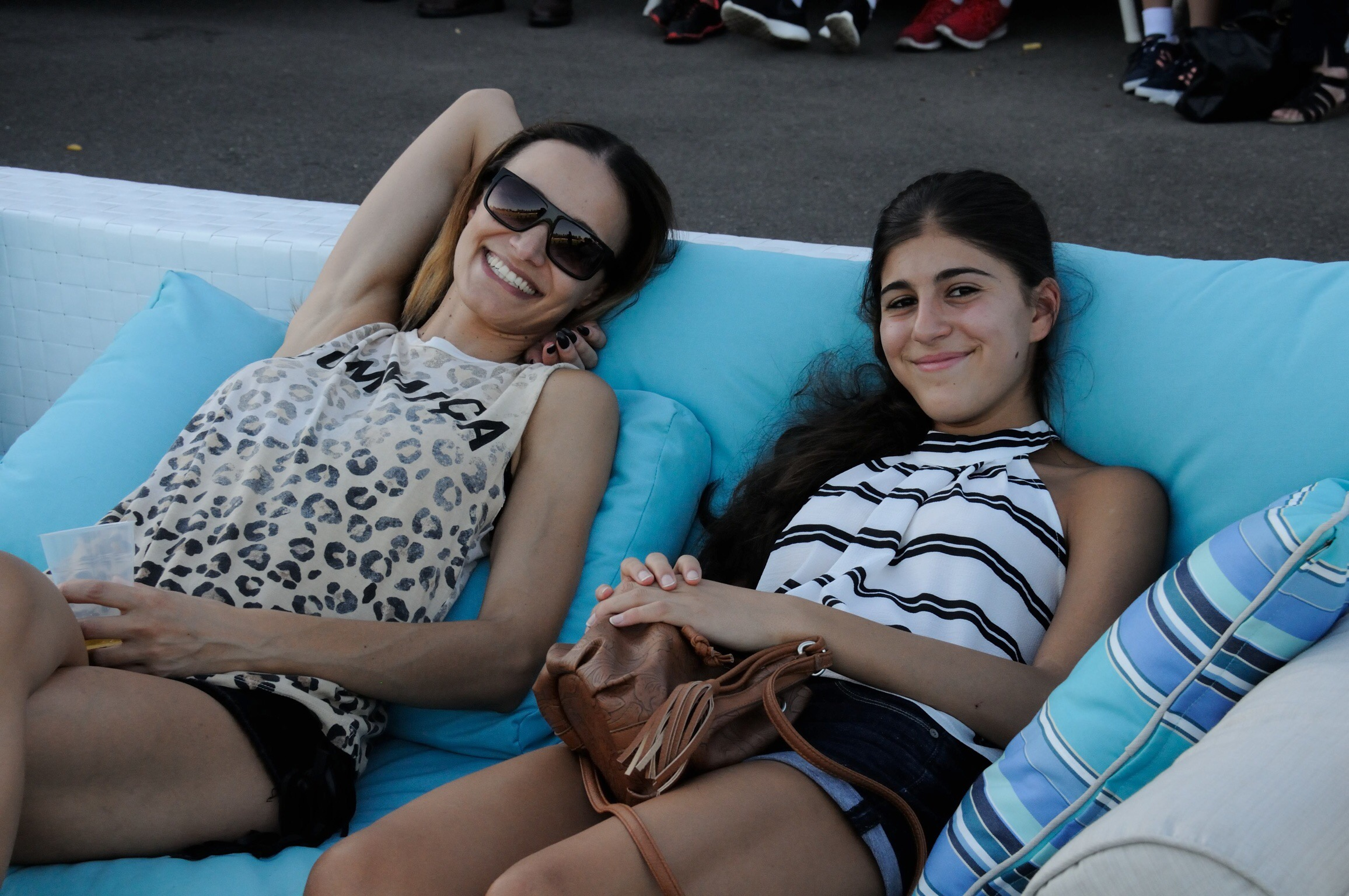 The lounges supplied by the Outdoor Furniture Specialists were an absolute hit with the crowd