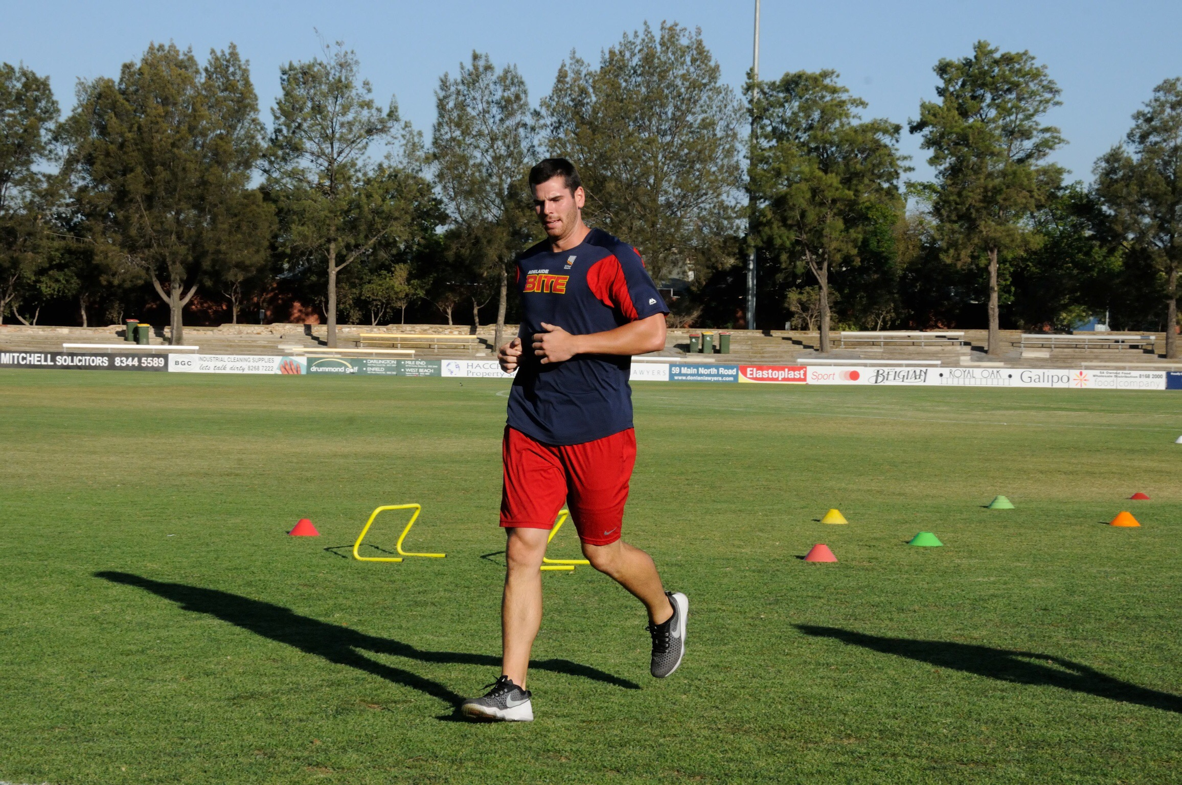 Adelaide Bites Marquee Player, Kyle Petty, gave it his all, coming a close second to the Bite's Strength and Condition coach Darren Fidge in the Fitness Challenge set by Olympic and World Champion Pole Vaulter Dmitri Markov