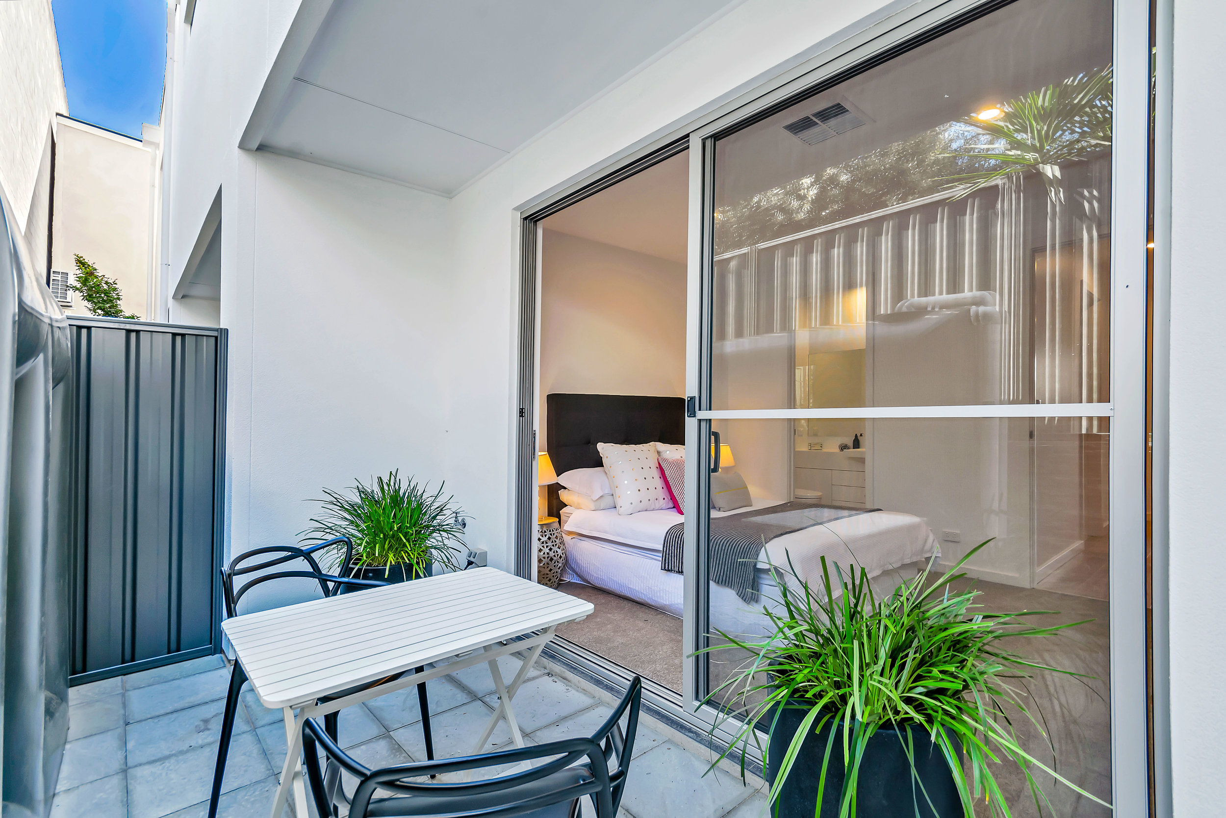 Quaint private courtyard to Bedroom 1