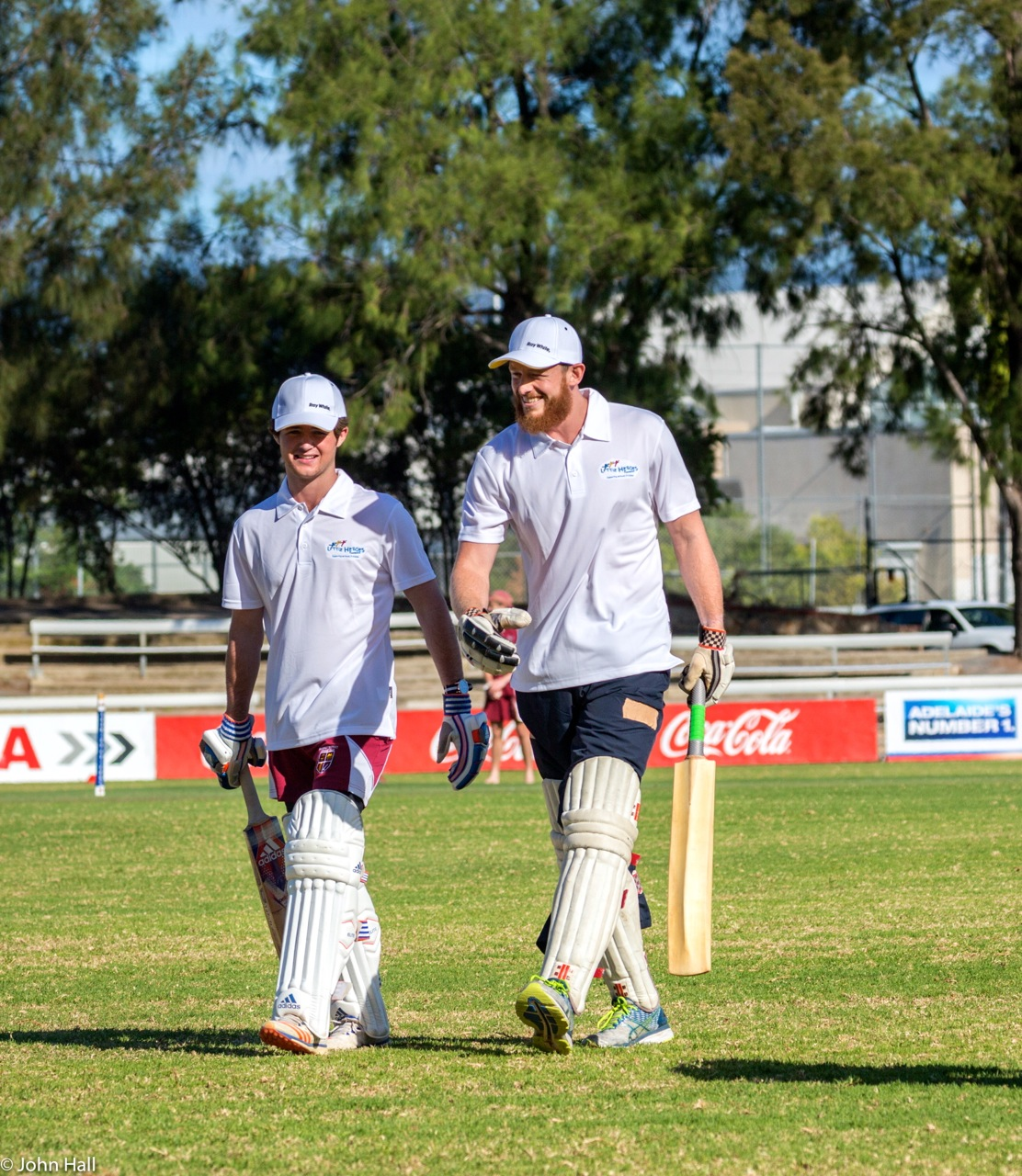 Up and coming cricket superstar Harvey Brennan and NAFC ruckman James Craig got right into the spirit of things and provided the crowd with some super shots.