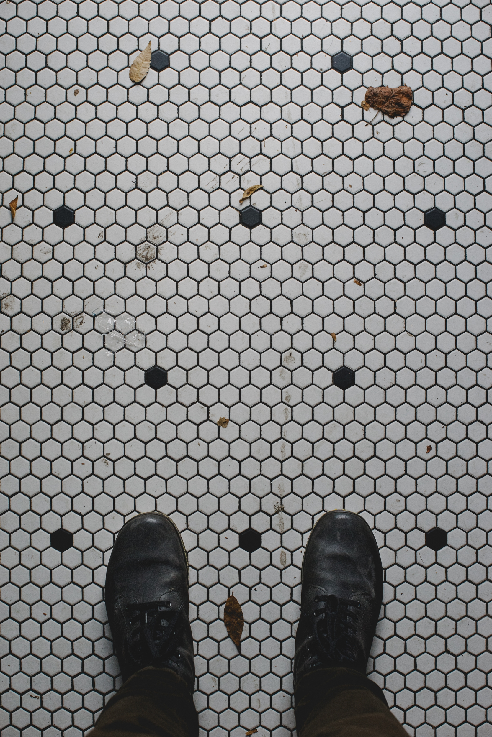 One of my favorite parts of this places is the hex floor; it's so amazing! #floorgoals