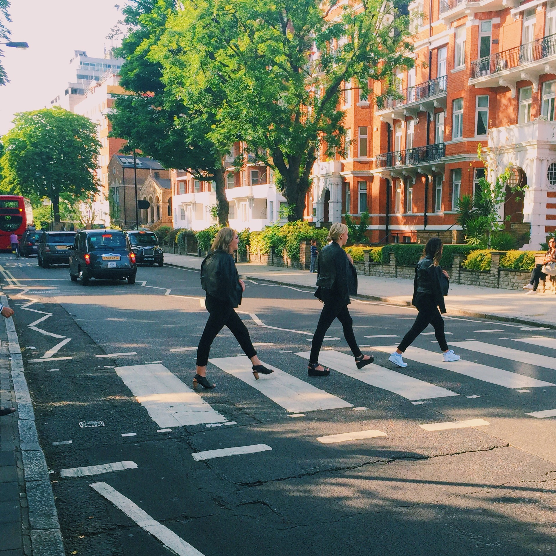 Squad taking Abbey Road