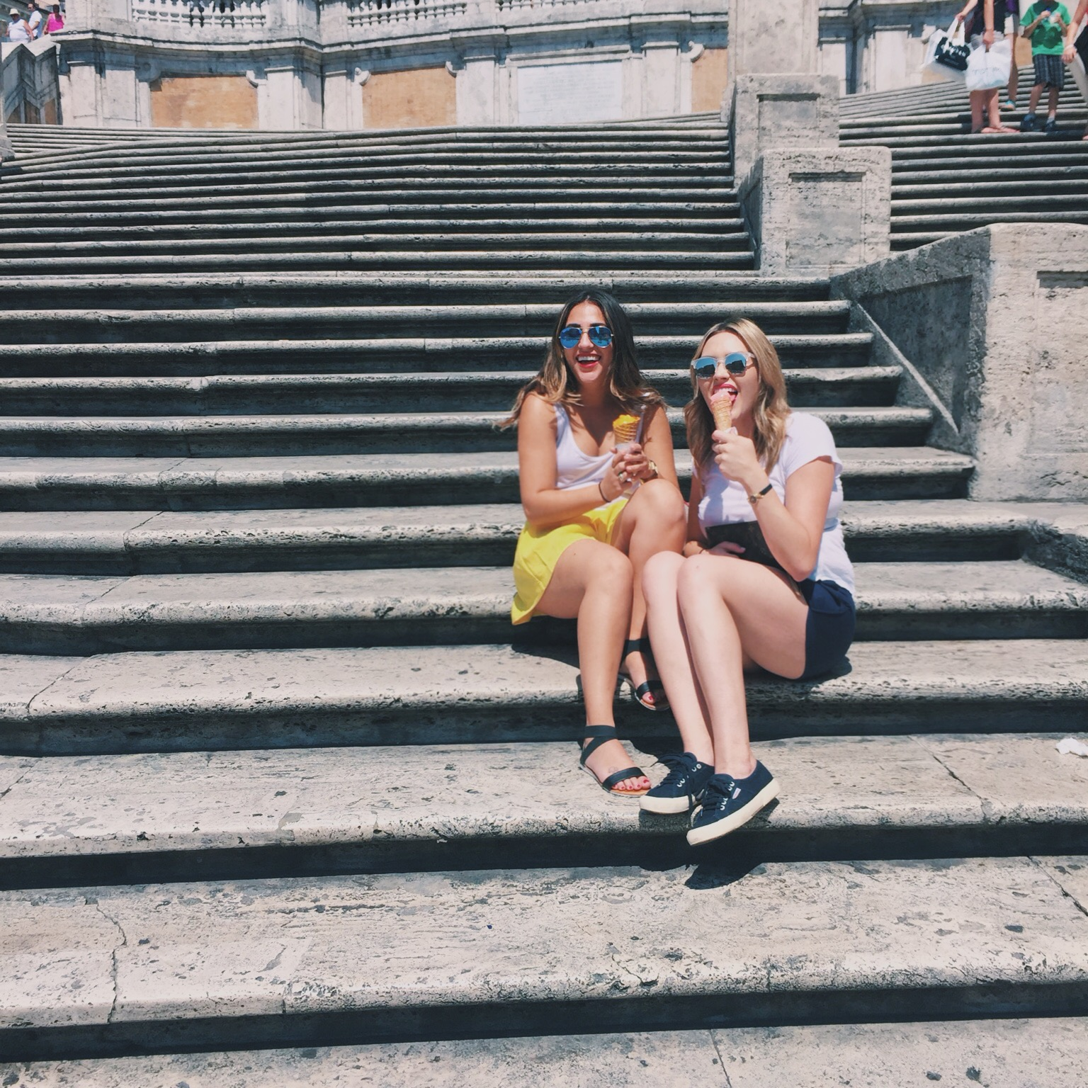 A little gelato on the Steps