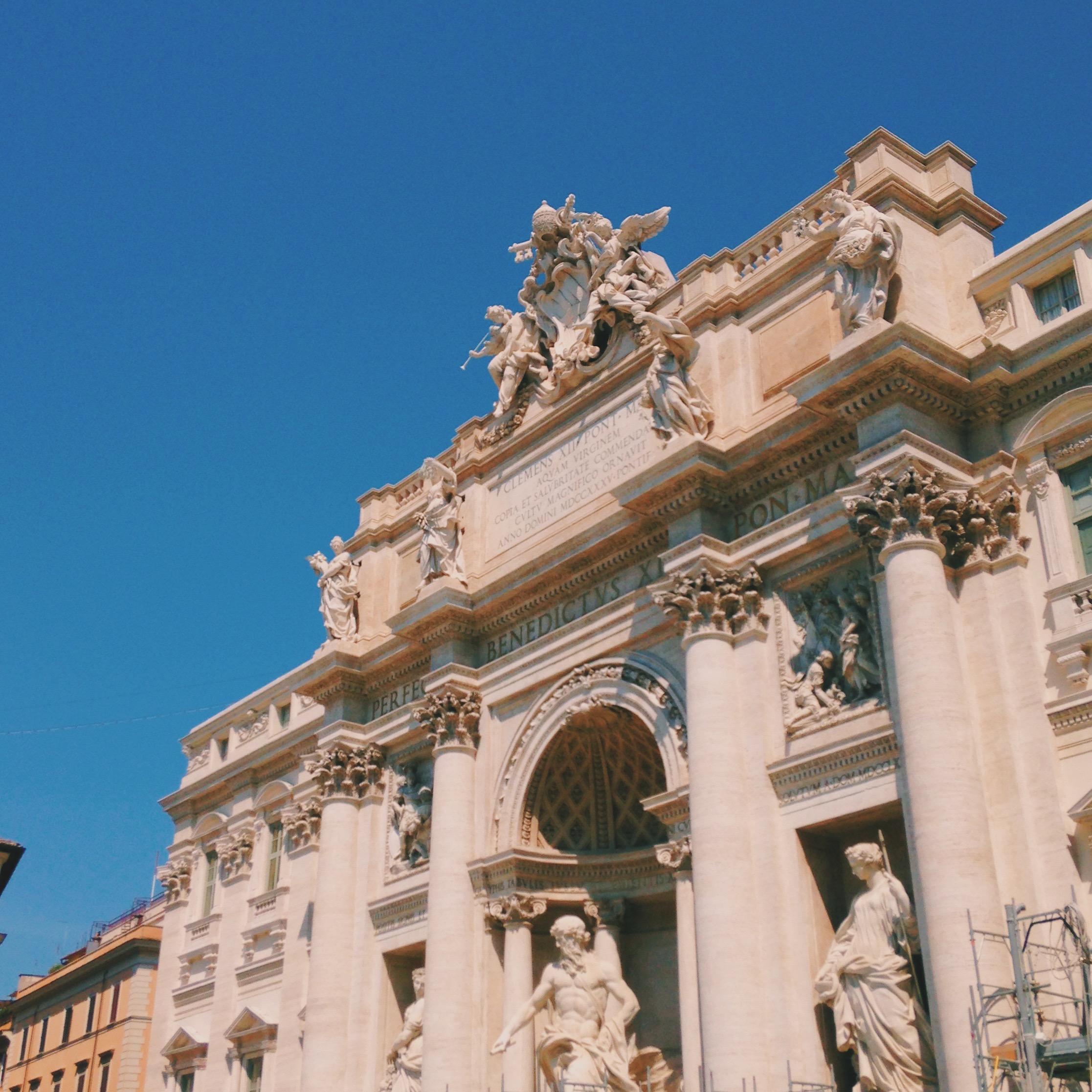 Renovated Trevi Fountain