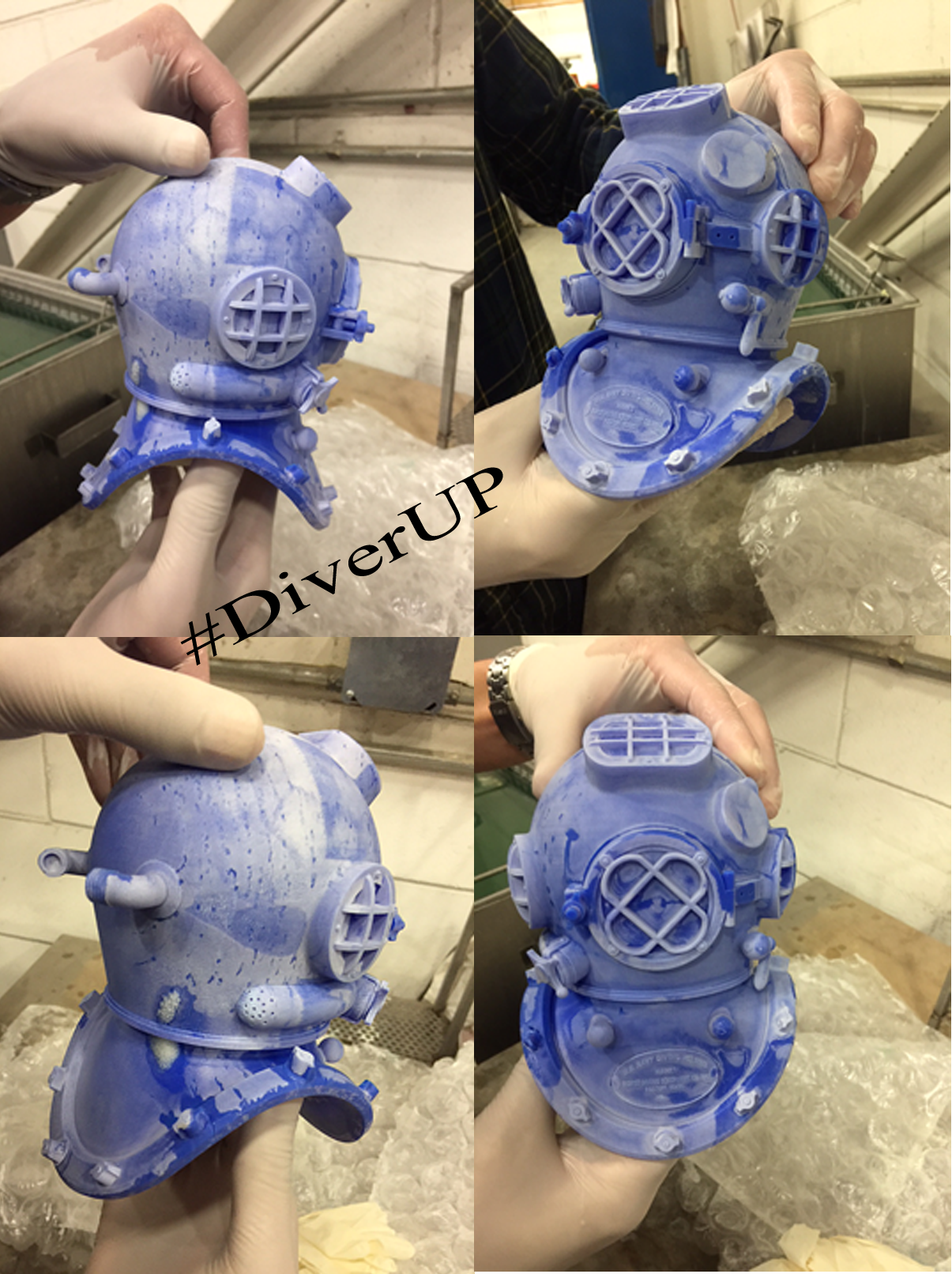 I am so very excited to see the final wax mold (before cleaning) of the helmet for  Diver UP . The wax mold for her body will be ready in a few days and then an 11 inch Bronze cast will be created. All in collaboration with the fine art foundry of Polich Tallix in New York State.  To see the full project and to purchase one of the first of this limited bronze series click this link:    https://www.indiegogo.com/projects/diver-up-sculpture-project-art/x/16478757#/