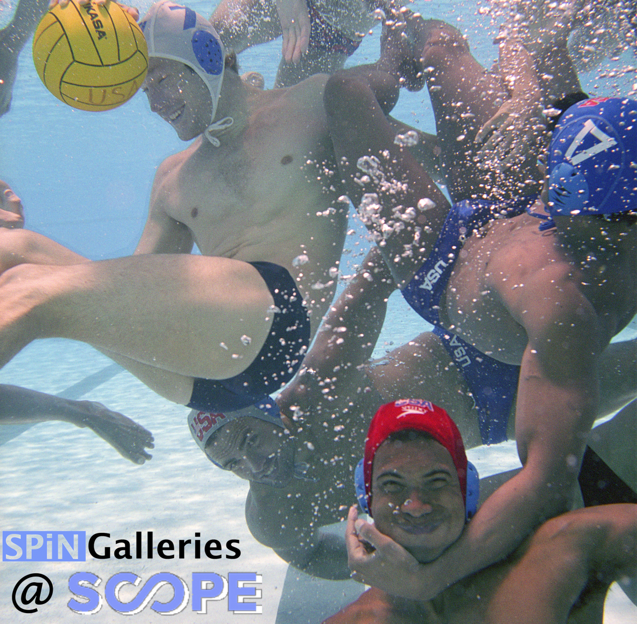 The boys will be playing in the pool at The  Scope Contemporary Art Show . VIP opening in ONE week- November 29th. On  Miami Beach . Image of the  USA Water polo  O lympic Team . Archival c anvas  on wood with acrylic and resin 40x60inches. Image ©  Victor Spinelli Archive.    More Info here:   https://scope-art.com/