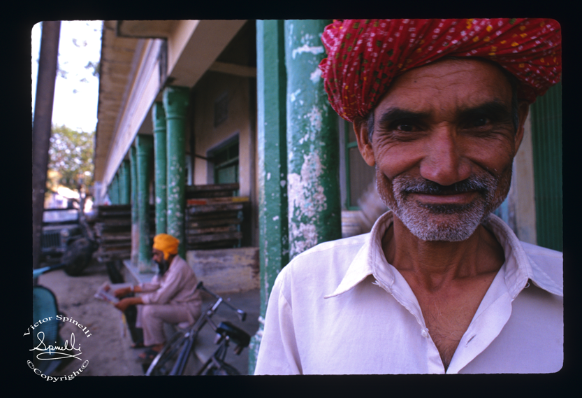 Photograph of the day: Locals in Pushkar, Rajastan in India. A smile is always welcoming. Pushkar has one of the few Temples dedicated to Brahma. A wonderful town. Enjoy. Shot on   Ektachrome slide film.