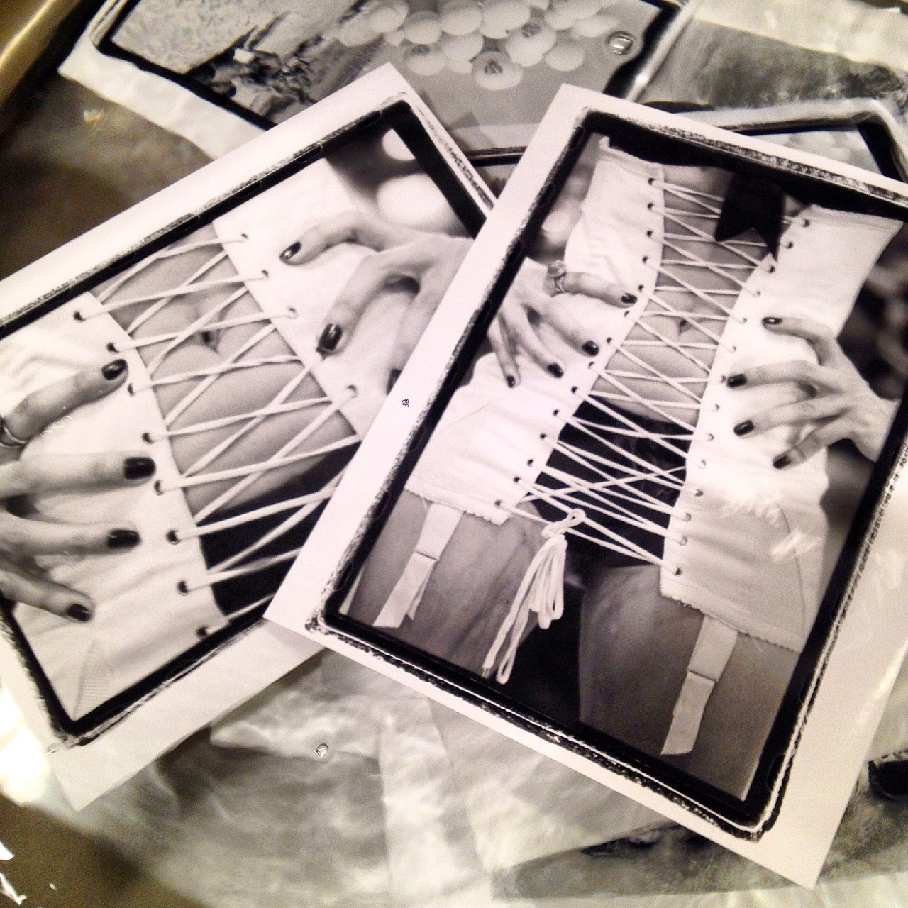"""Back in the darkroom after years and I rediscovered a few good negatives that were in the closet for 10 years. On the right in newly named """"Juicy"""". International Center of Photography. Big prints coming soon. Limited editions. SPiN Galleries. Victor Spinelli Archive"""