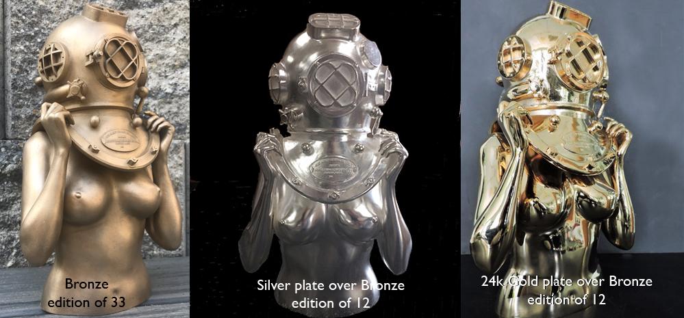 Victor Spinelli-Diver up-Bronze-Silver-Gold.jpg