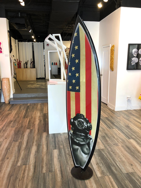 Victor Spinelli-fine art-Diver UP-Surfboard-Tim Bessell-VW Contemporary- Greenwich Connecticut.png