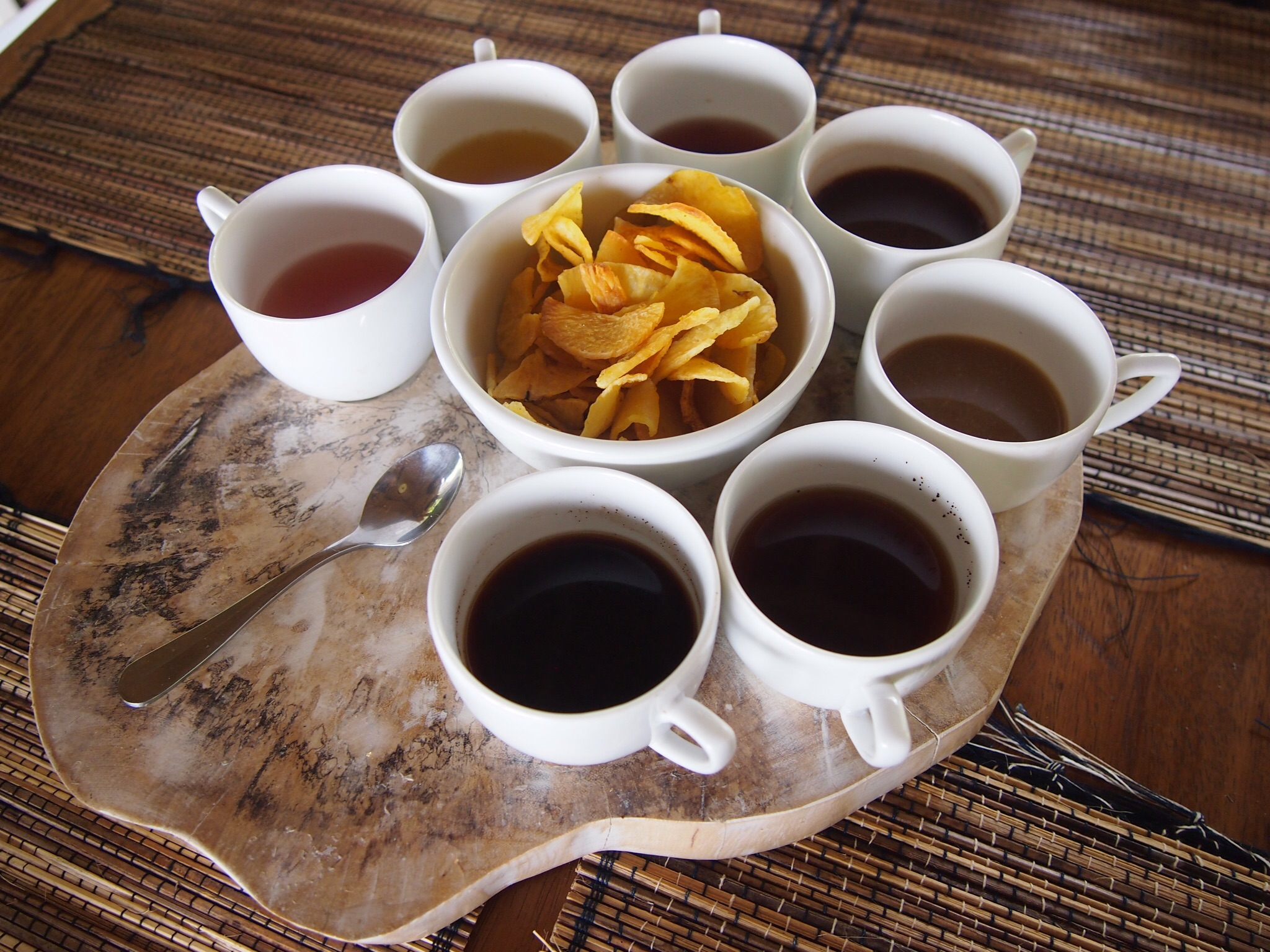 Different flavored coffee & tea
