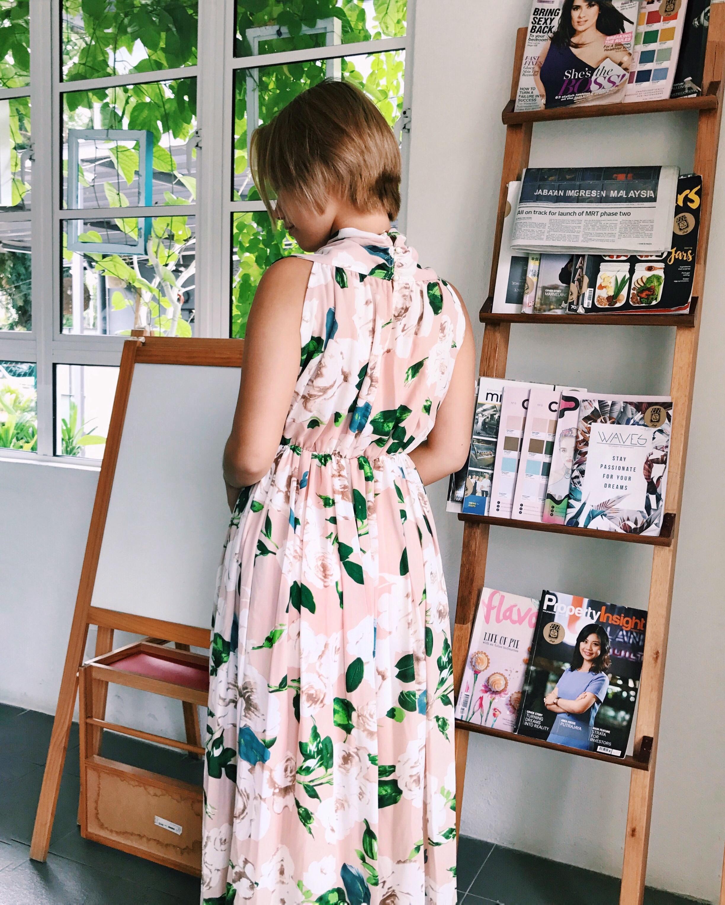 Wearing the vintage Vilem Blossom