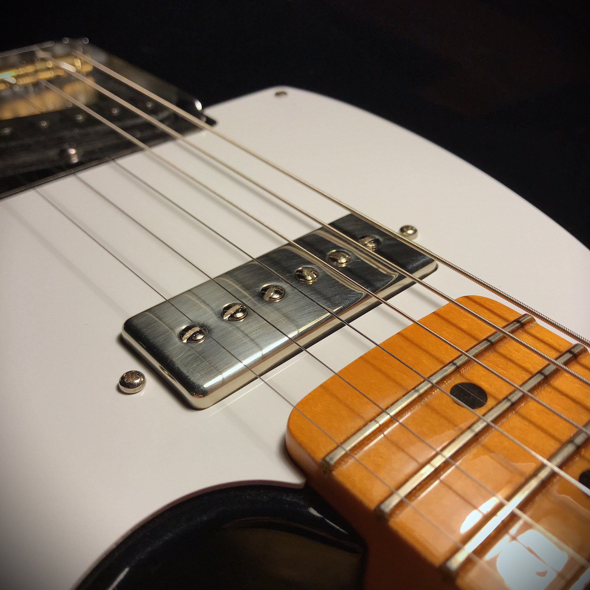 P90-Mini · Polished Nickel · Tele Neck