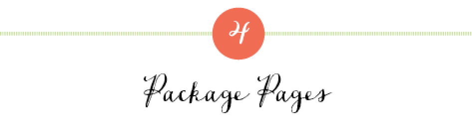 package pages for designers