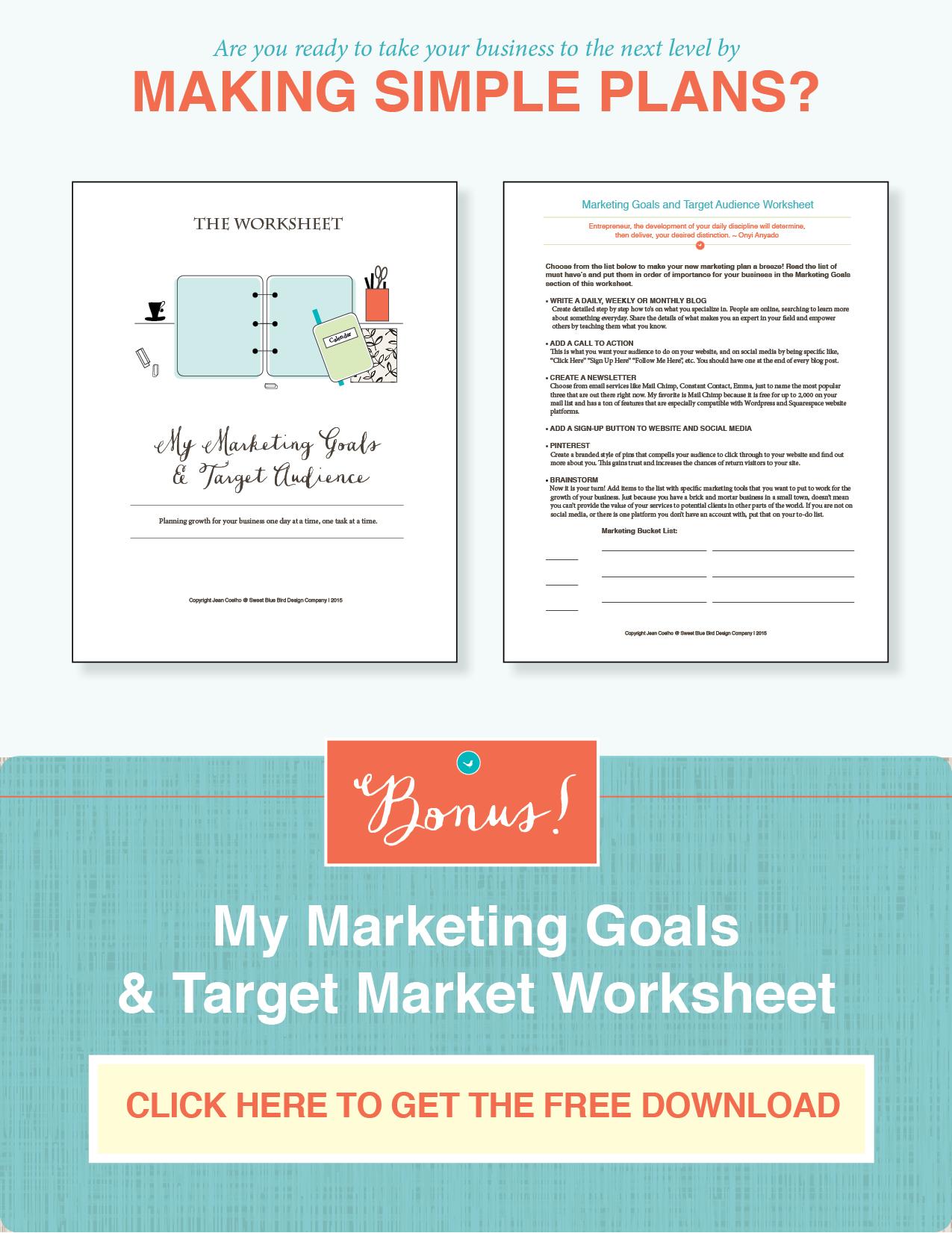 target-market-and-marketing-goals-worksheet