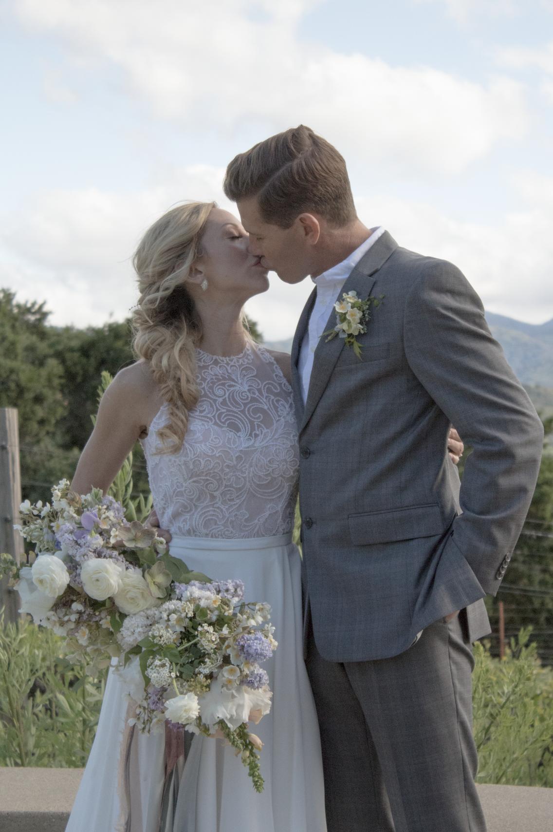 Venue: Holman Ranch / @holmanranch  Florals: Ponderosa & Thyme / @ponderosa_and_thyme  Invitation Suite & Signage: Graceline / @jenny_Sanders_  Wedding Dress: Kinsley James Couture Bridal / @kinsleyjamescouturebridal  Rings: Susie Saltzman / @susiesaltzman  Models: Bob Stoik + Nicole Duke / @nicyogi  Rentals: One True Love Vintage Rentals / otlvintage Cake: Just Bakecause / @justbakecause  Hair & Makeup: The Hair + Makeup Company / @thehairandmakeupco  Event Concept + Design: Michaela Noelle Designs & Ashley Slater Photography / @michaelanoelledesigns  @ashleyslaterphotography of  @bloomtheworkshop