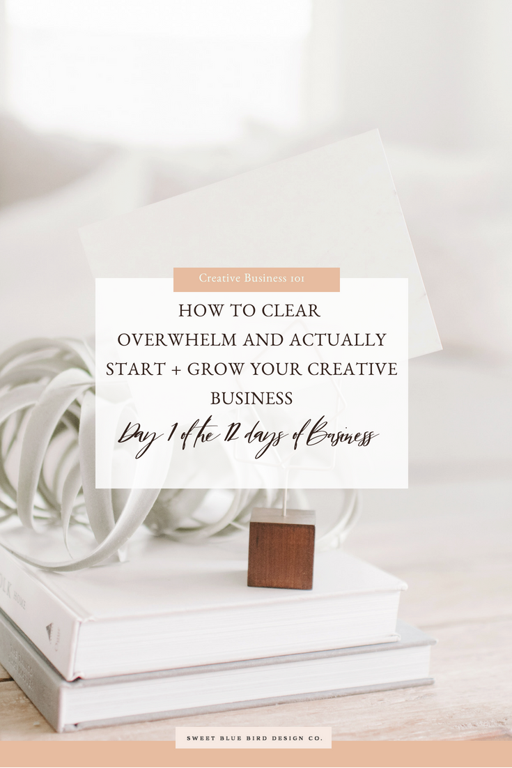 How to Clear Overwhelm and Actually Start + Grow Your Creative Business DAY 1 OF THE 12 DAYS OF BUSINESS.png