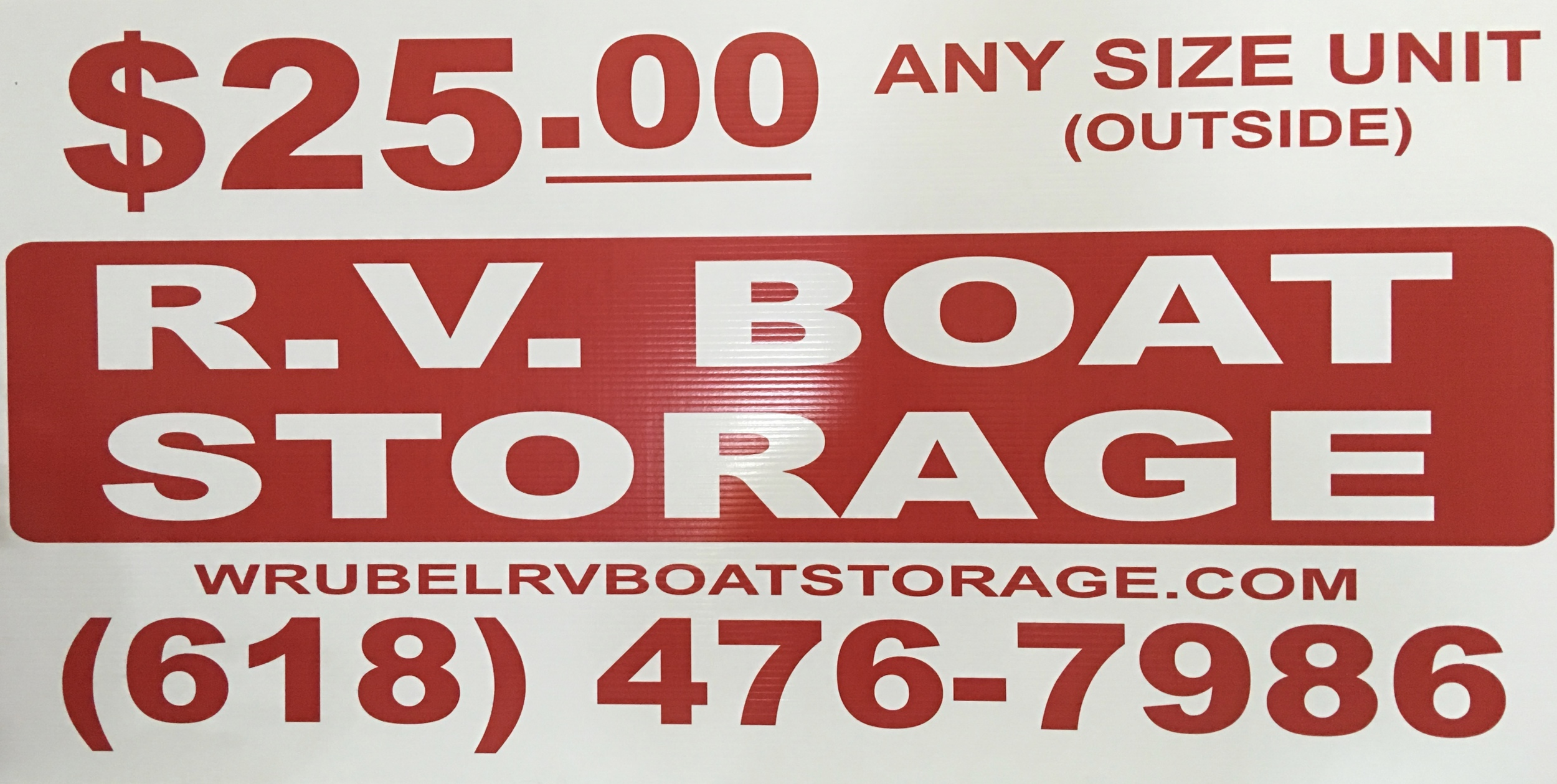 outside storage special - call for details