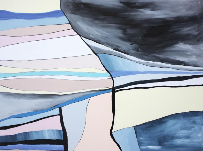 Desire Lines, acrylic on wood panel, 2017