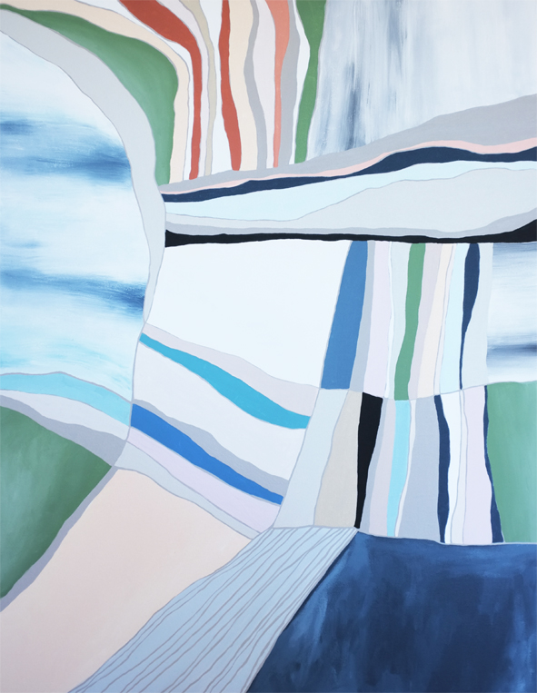 The Bay, acrylic on canvas, 2017