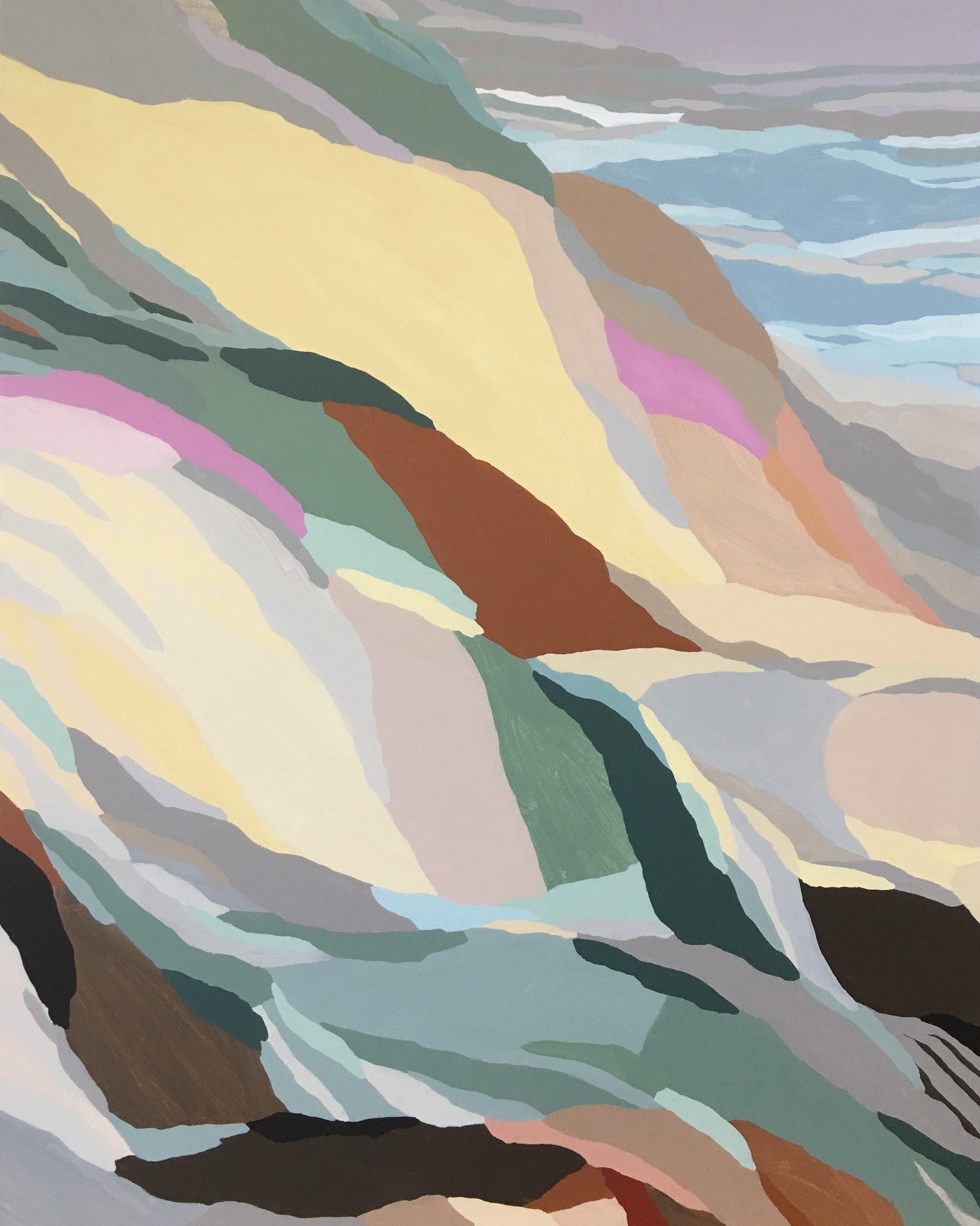 Cliffside Walk, acrylic on canvas, 2018