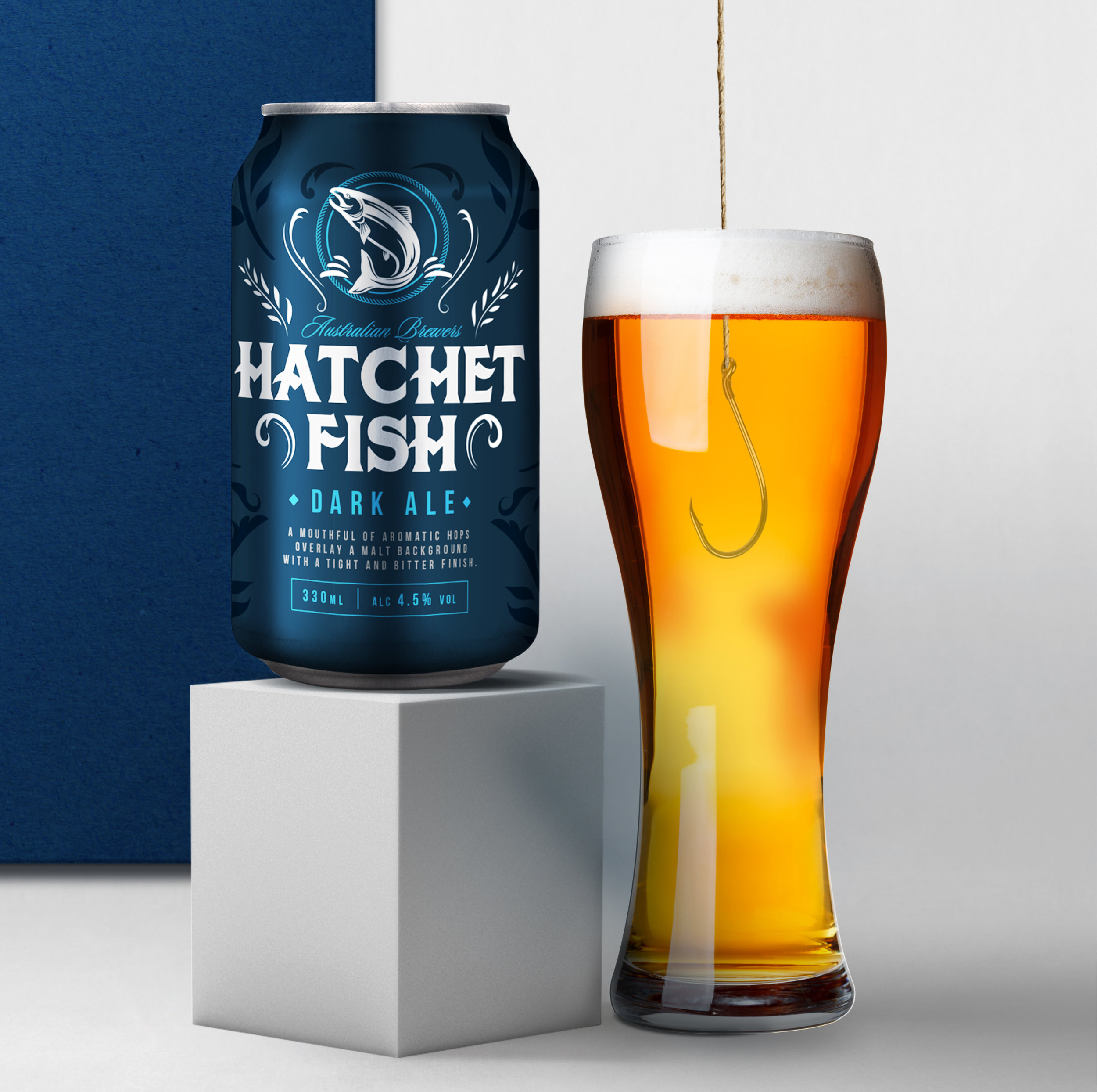 Hatchet Fish Our Revolution Brand Design Brand Logo Packaging Design Brand Strategy Brand Innovation Beer Packaging Beer Design Beer Brand Alcohol Branding Alcohol Packaging Alcohol innovation Packaging Innovation