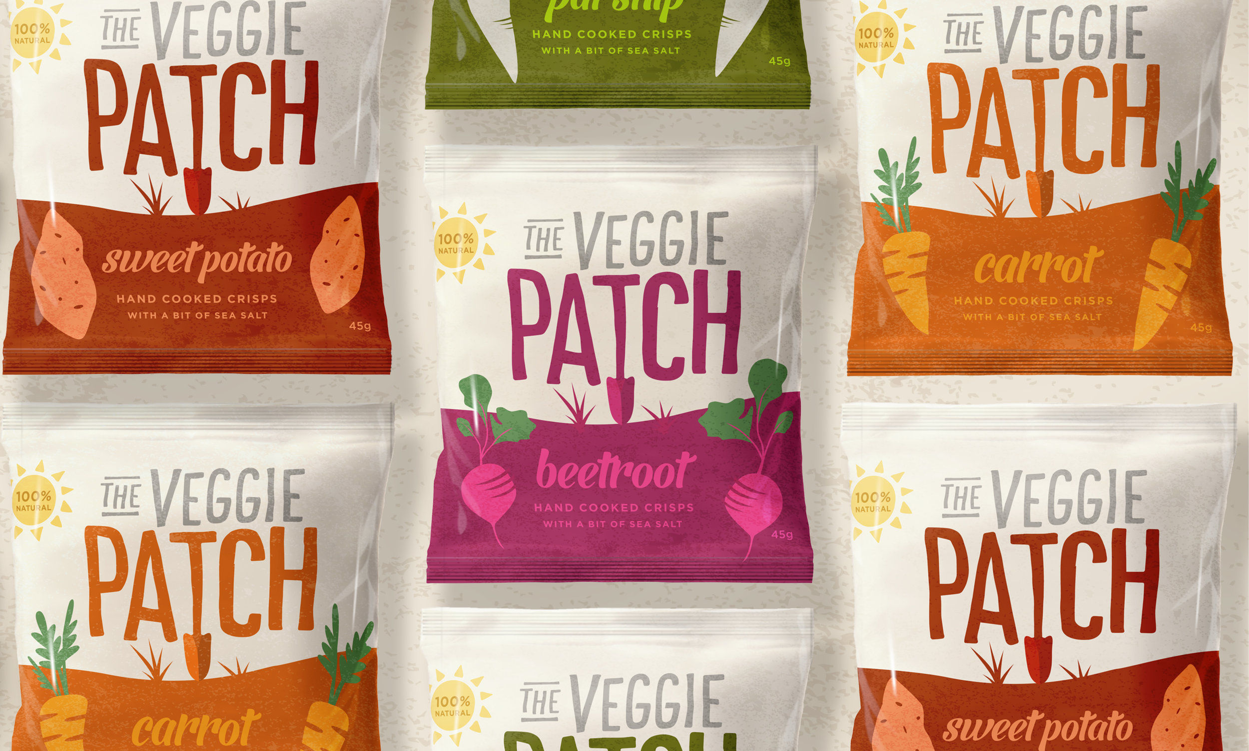 Veggie Patch Our Revolution Brand Design Brand Logo Packaging Design Brand Strategy Brand Innovation Food Packaging Food Design Food Brand Chips Branding Chips Packaging Chips innovation Packaging Innovation