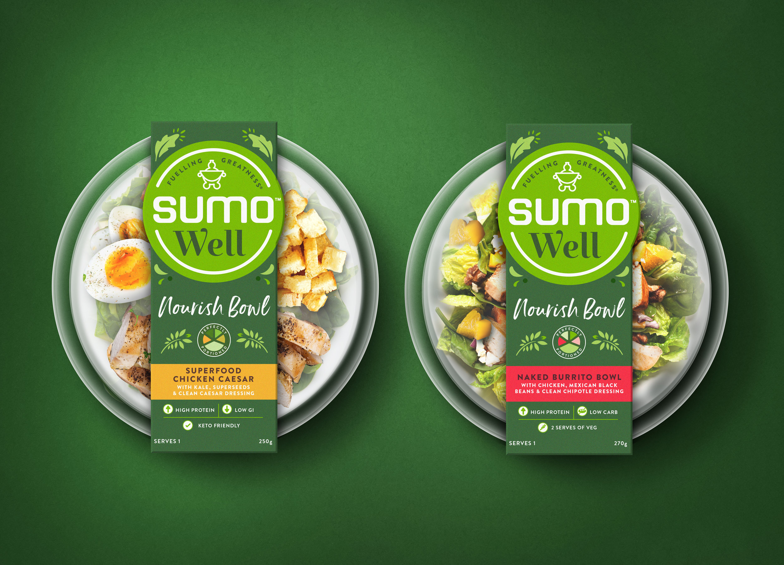 Sumo Well, Sumo Salad, Packaging Design, Our Revolution, Brand Design, Brand Logo, Brand Strategy, Brand Innovation, Food Packaging, Food Design, Food Brand, Health food Branding, Salad Packaging, Heath innovation, Packaging Innovation