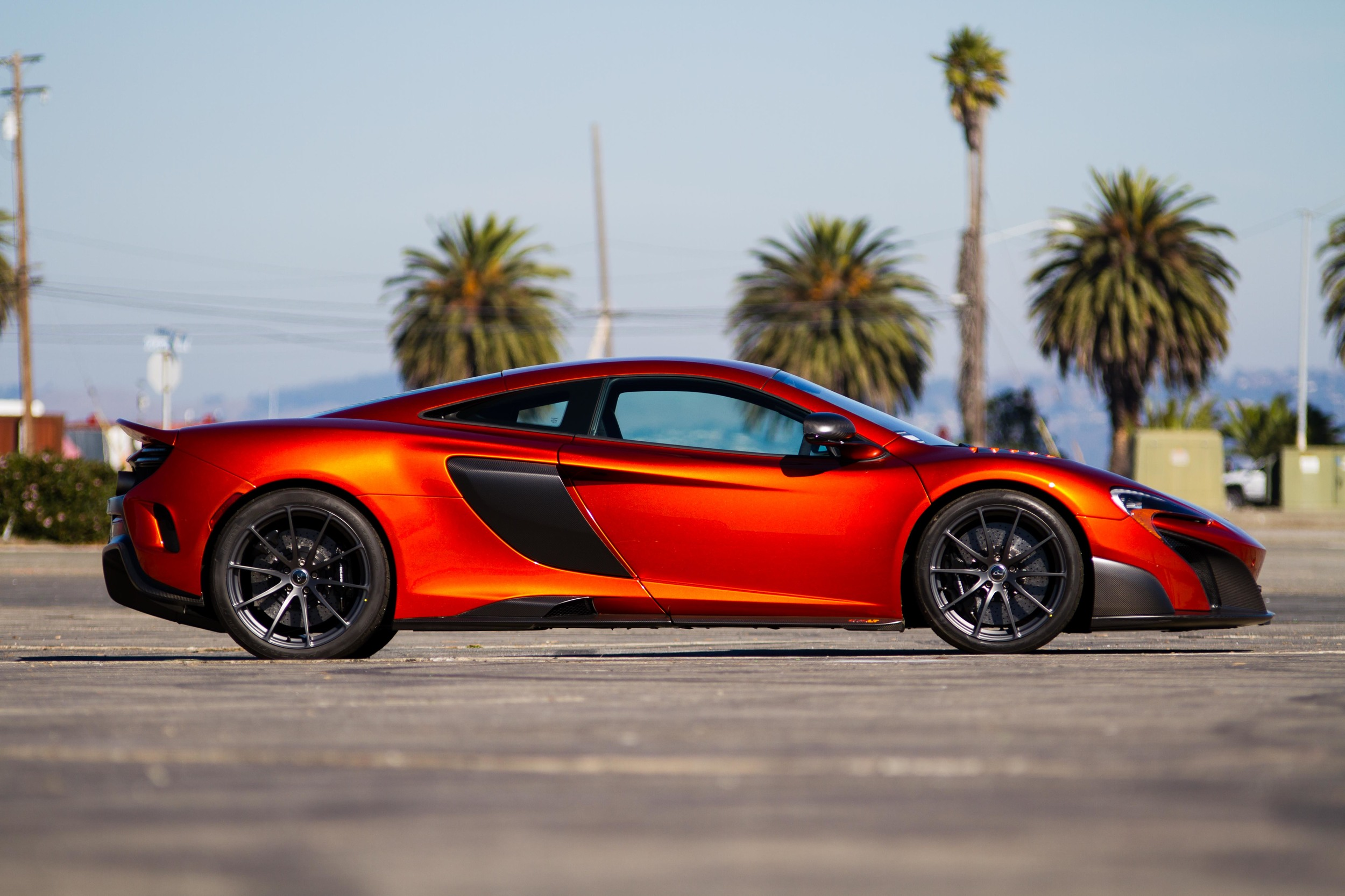 McLaren 675LT after the show, during the photoshoot.