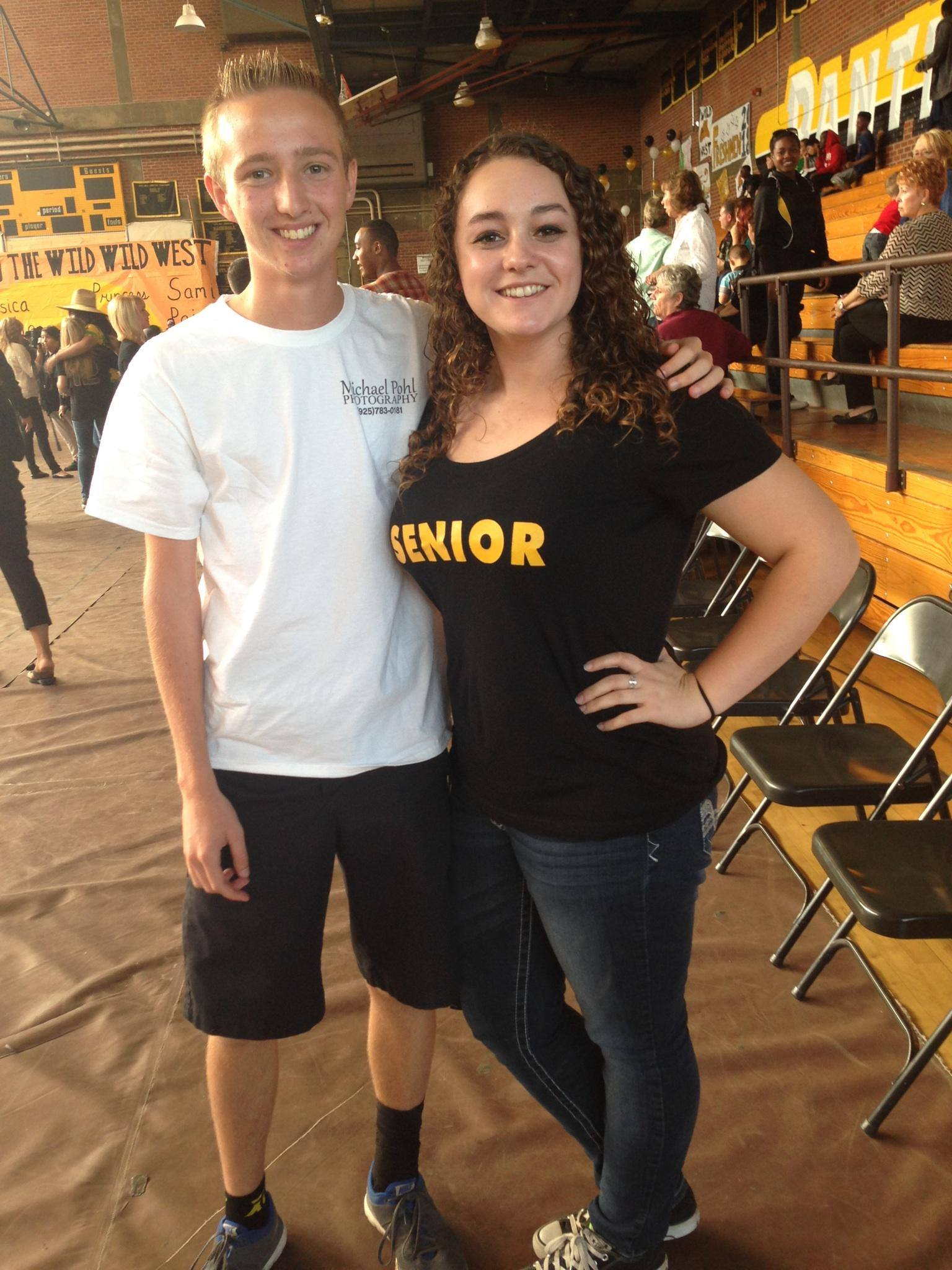 Taylor Daniel (right) and I after  Antioch High's Class of 2015 Homecoming Rally our senior year.