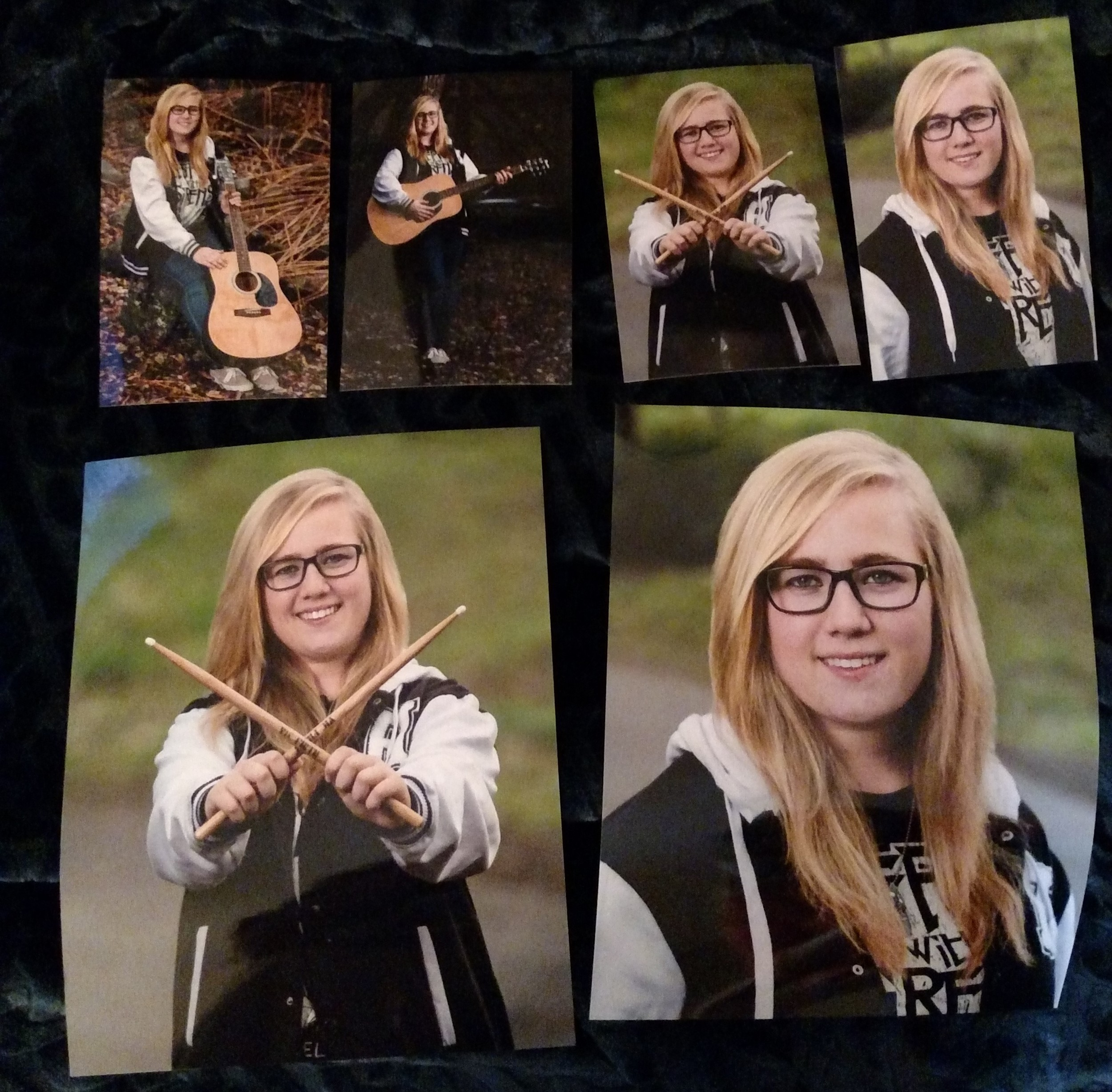 Here's a few prints that I printed of my sister. They're photographs from her senior session.