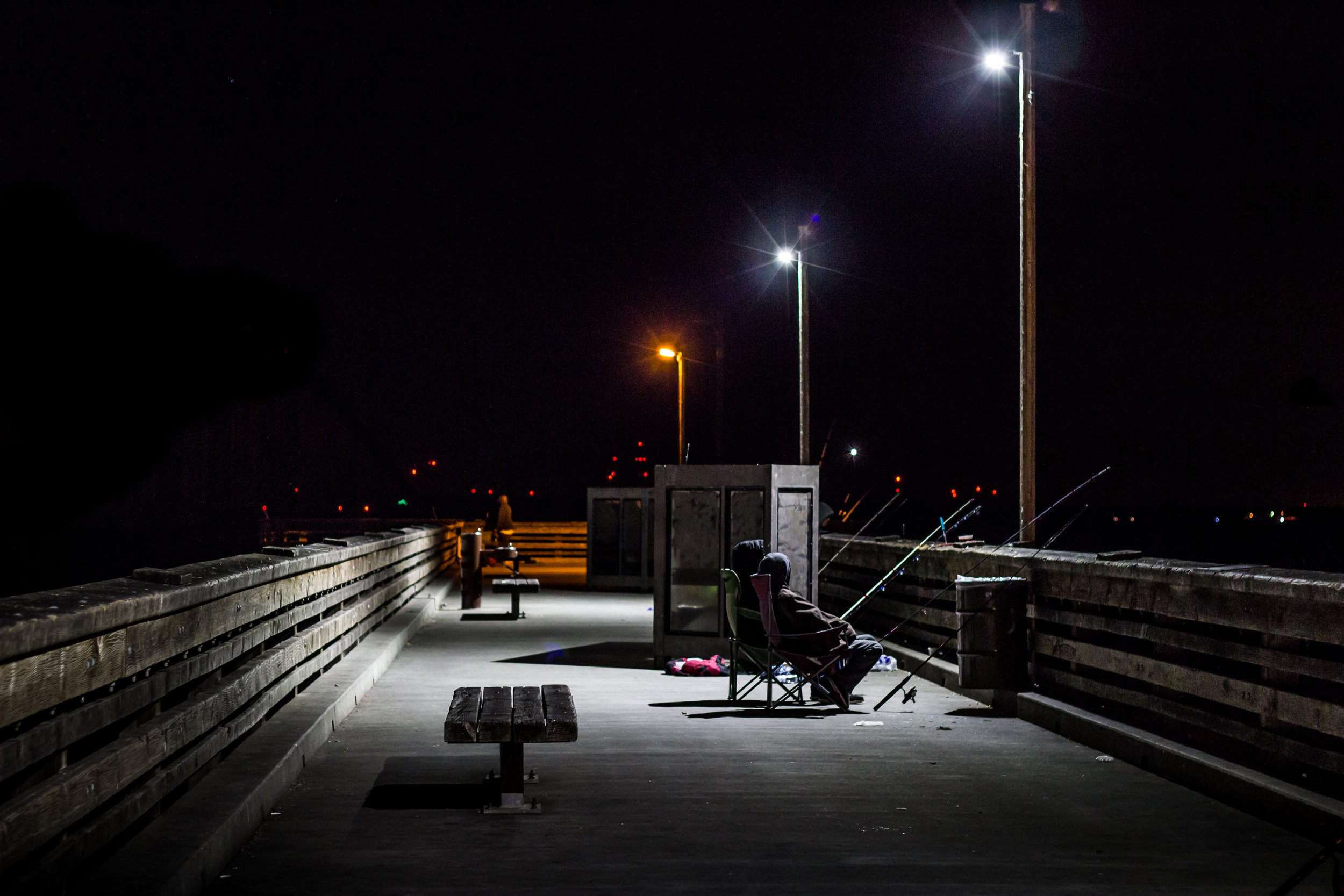 At the Antioch/Oakley Regional Shoreline fishing pier facing North. Image taken on April 9th, 2015 at 10:27pm by Michael Pohl.