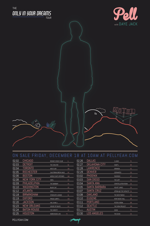 The Only In Your Dreams Official Tour Poster