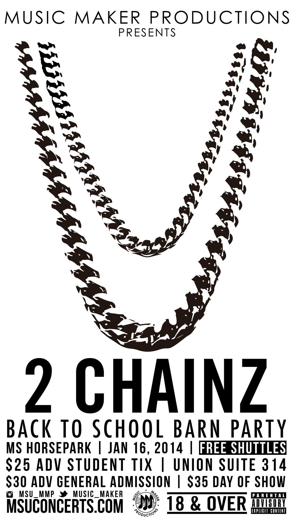 2 Chainz Concert Poster