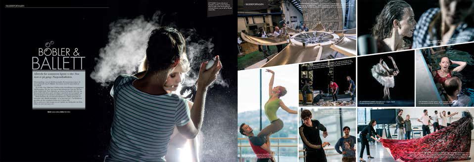 Bildereportasje fra forberedelsene til Ingrid Lorentzens åpningsforestilling som ballettsjef, I Fokines verden . Foto: Erik Berg