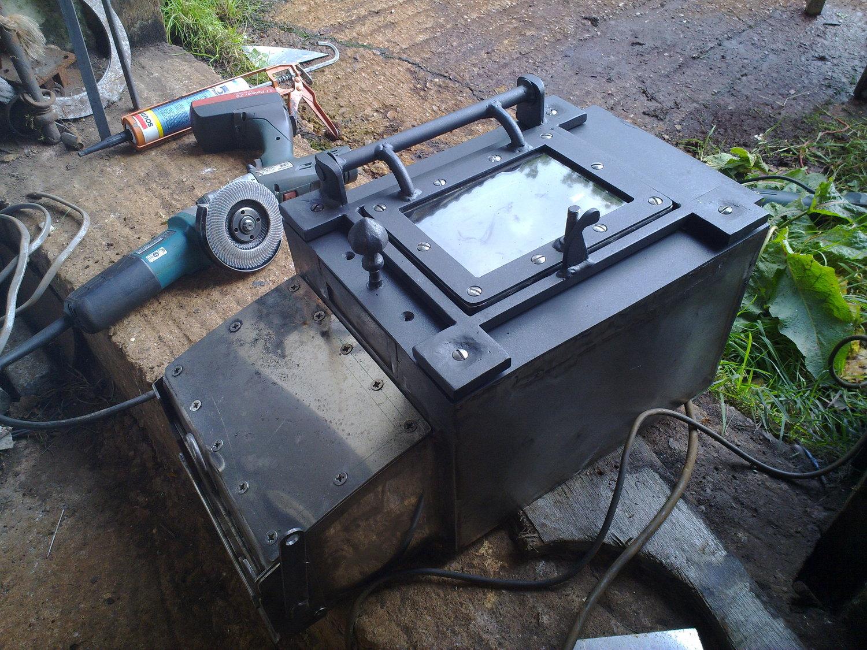Plug-in firebox, door & ash drop mechanism assembly.