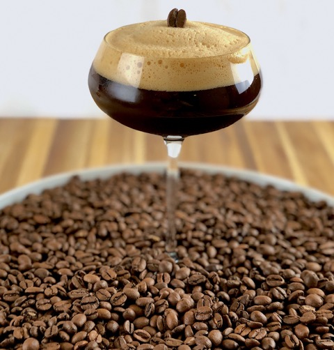 NAME: Espresso Martini  DESCRIPTION: This Classic Cocktail is made with Vodka, Coffee Liquor, Espresso and Homemade Vanilla syrup and shaken hard for a frothy head.