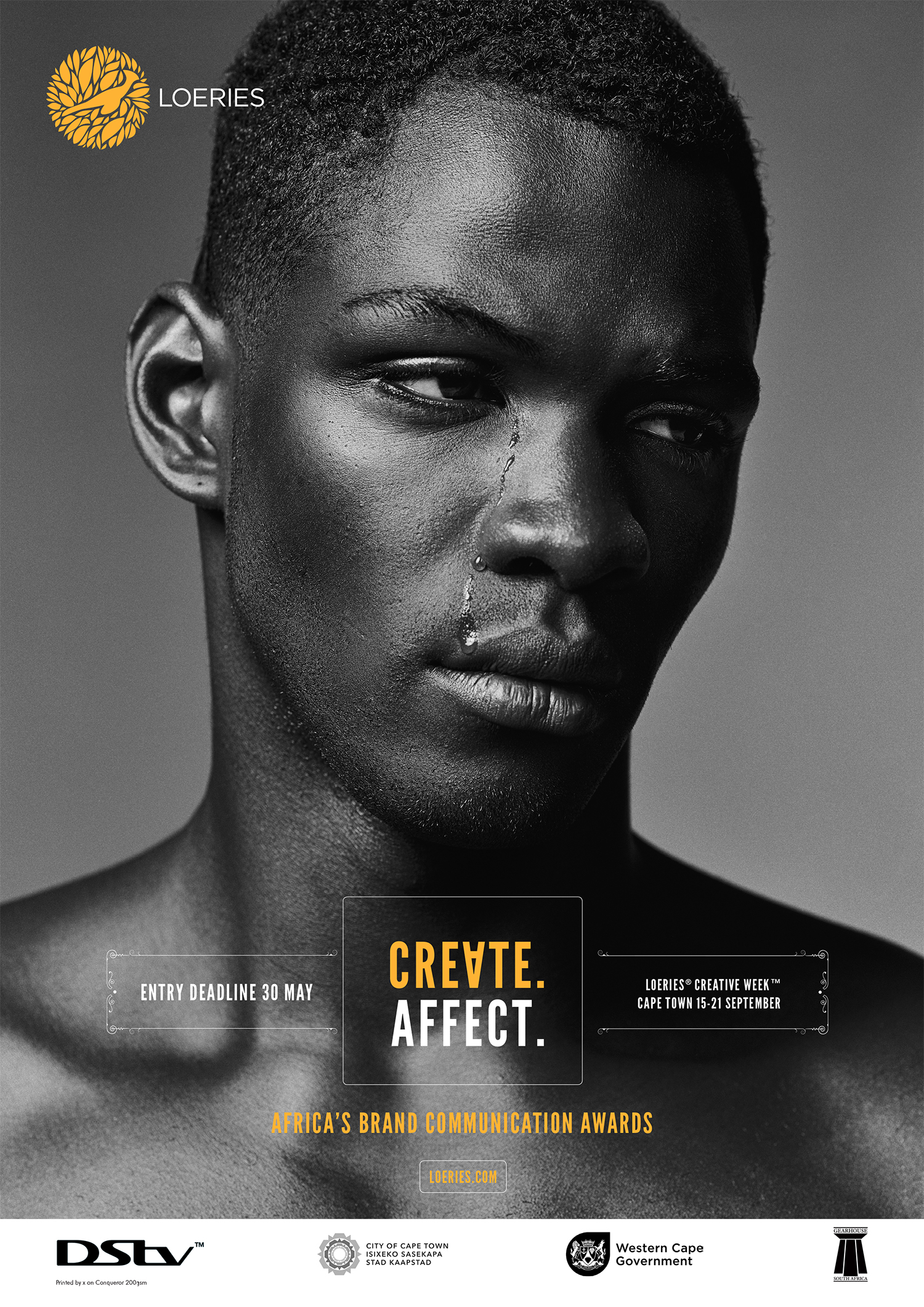 Create. Affect.  Loeries Poster