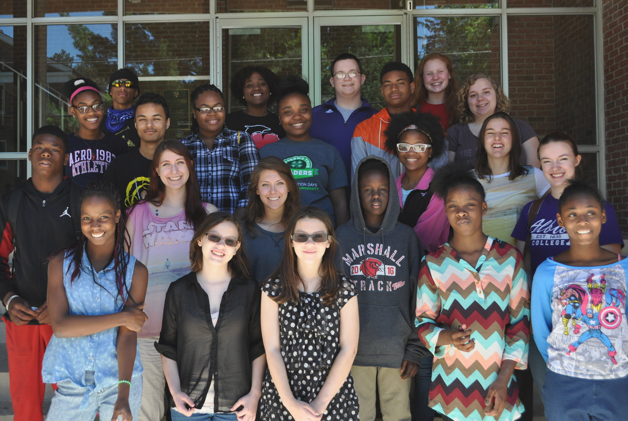 These courageous, local 8th, 9th, and 10th graders facilitated community-wide discussions about Ray Bradbury's  Fahrenheit 451  in October 2016.