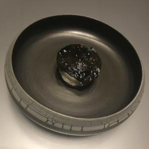 Black truffle, gruyere, pumpernickel, evoo, blix elixer, murray river salt.