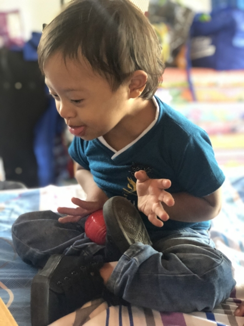"""Josue. I don't have special needs children in the US let alone special needs children in the poorest country in Central America without any sort of """"services."""" Oh, but the joy."""