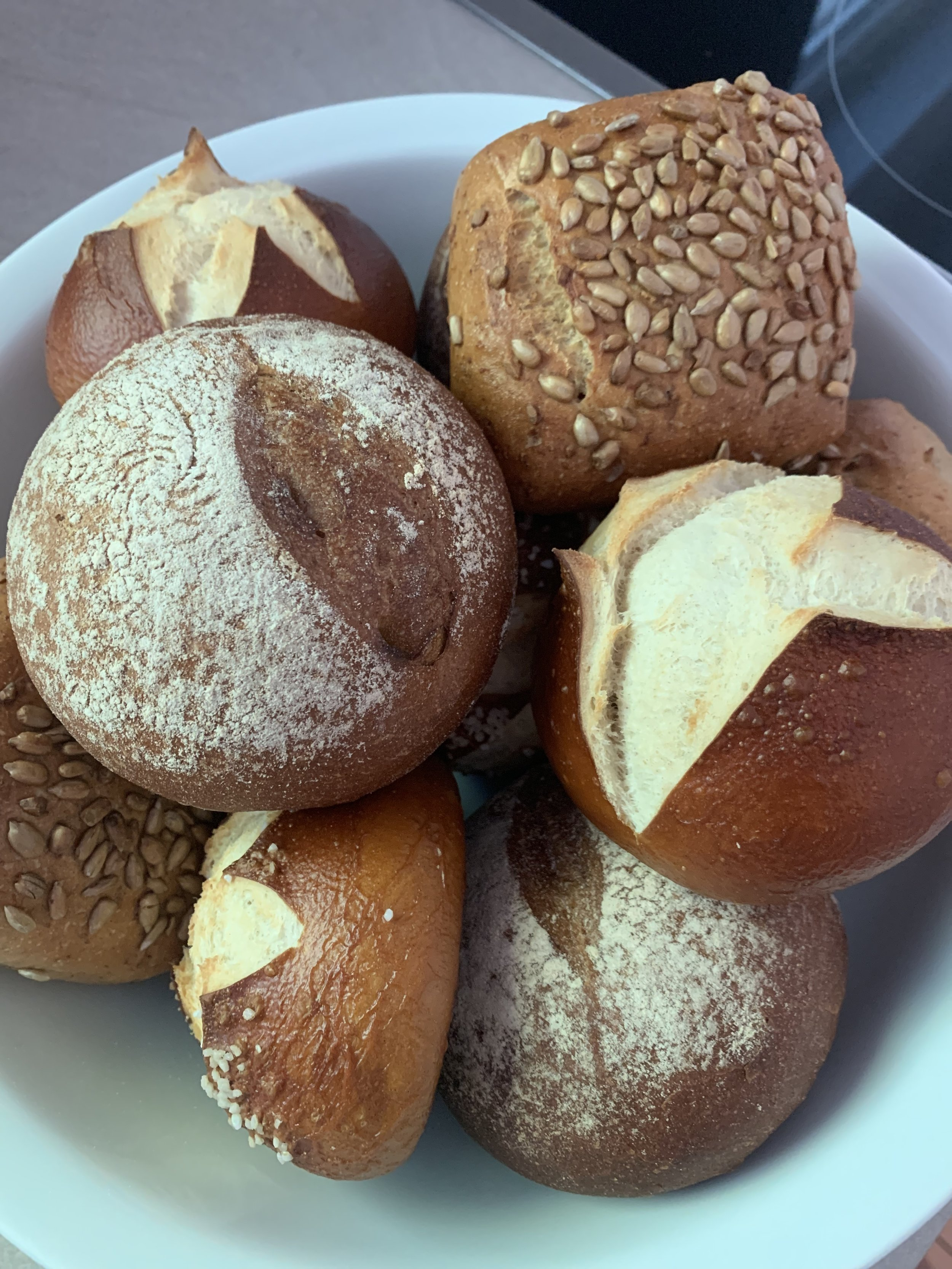 I thank God that I am not gluten intolerant. I mean, I can't even with the rolls in Germany! I walked to the bakery every couple days to get fresh rolls.