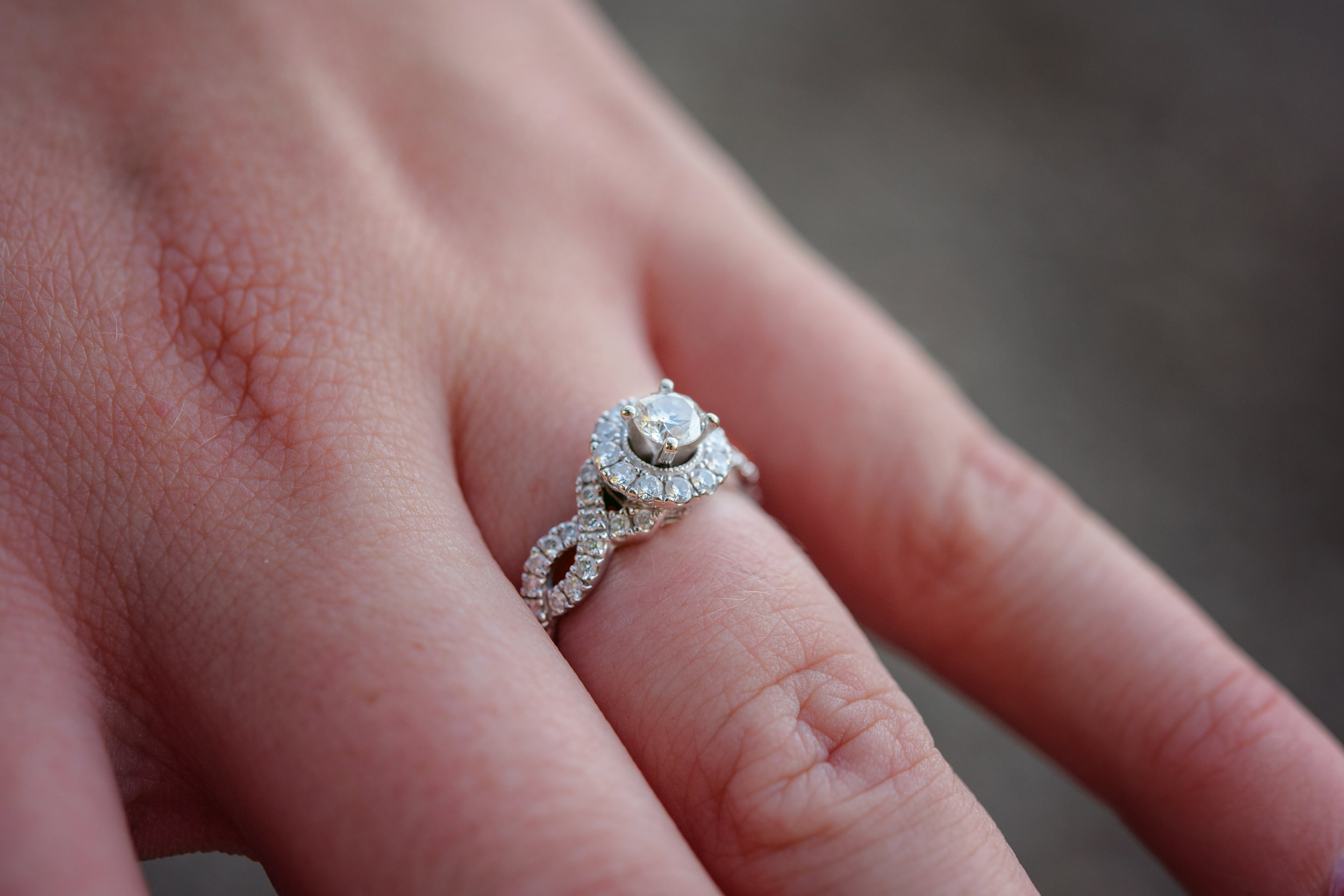 Cincinnati Engagement Photography Ring