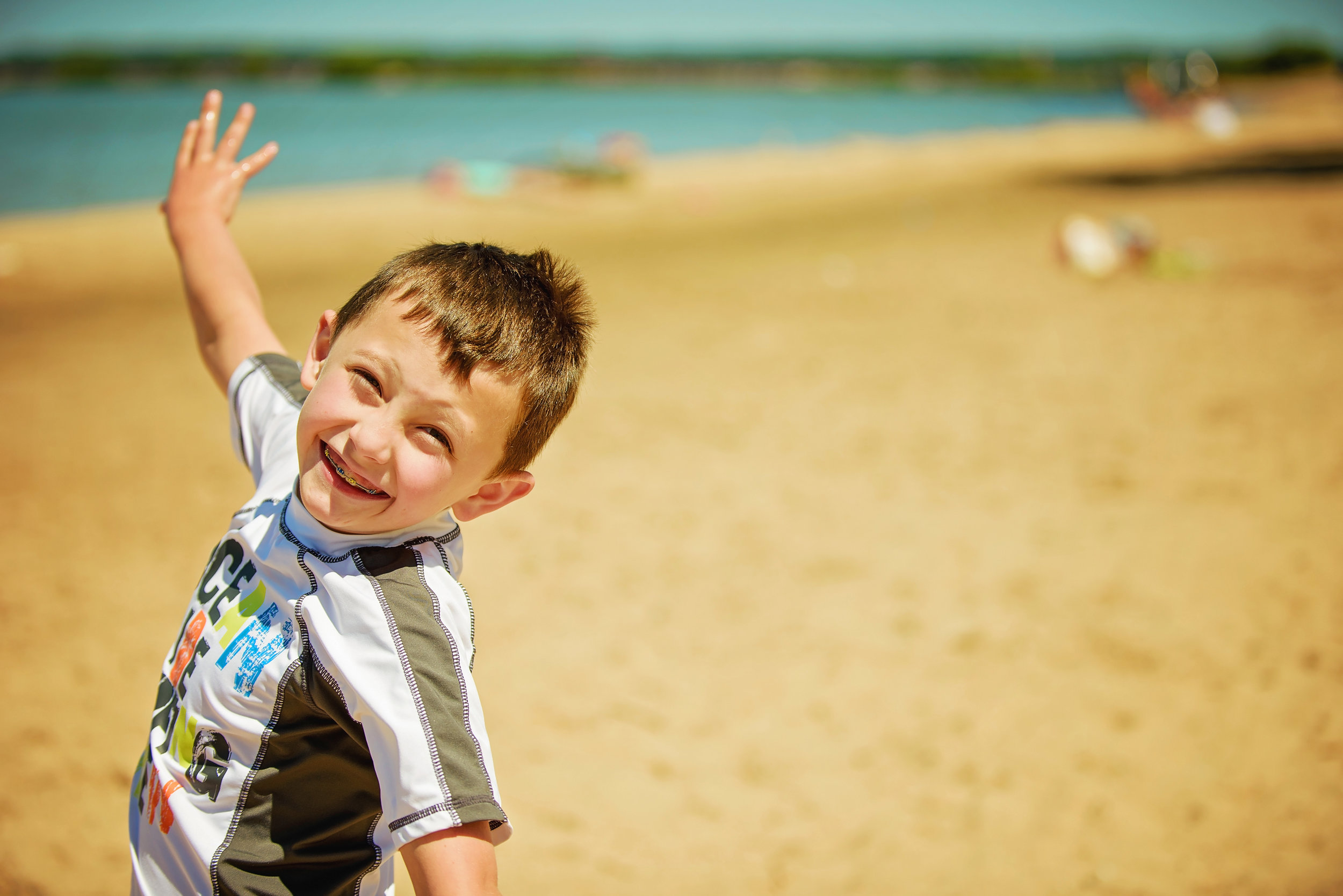 Boy at the Beach in Northern Michigan Remember When Portraits